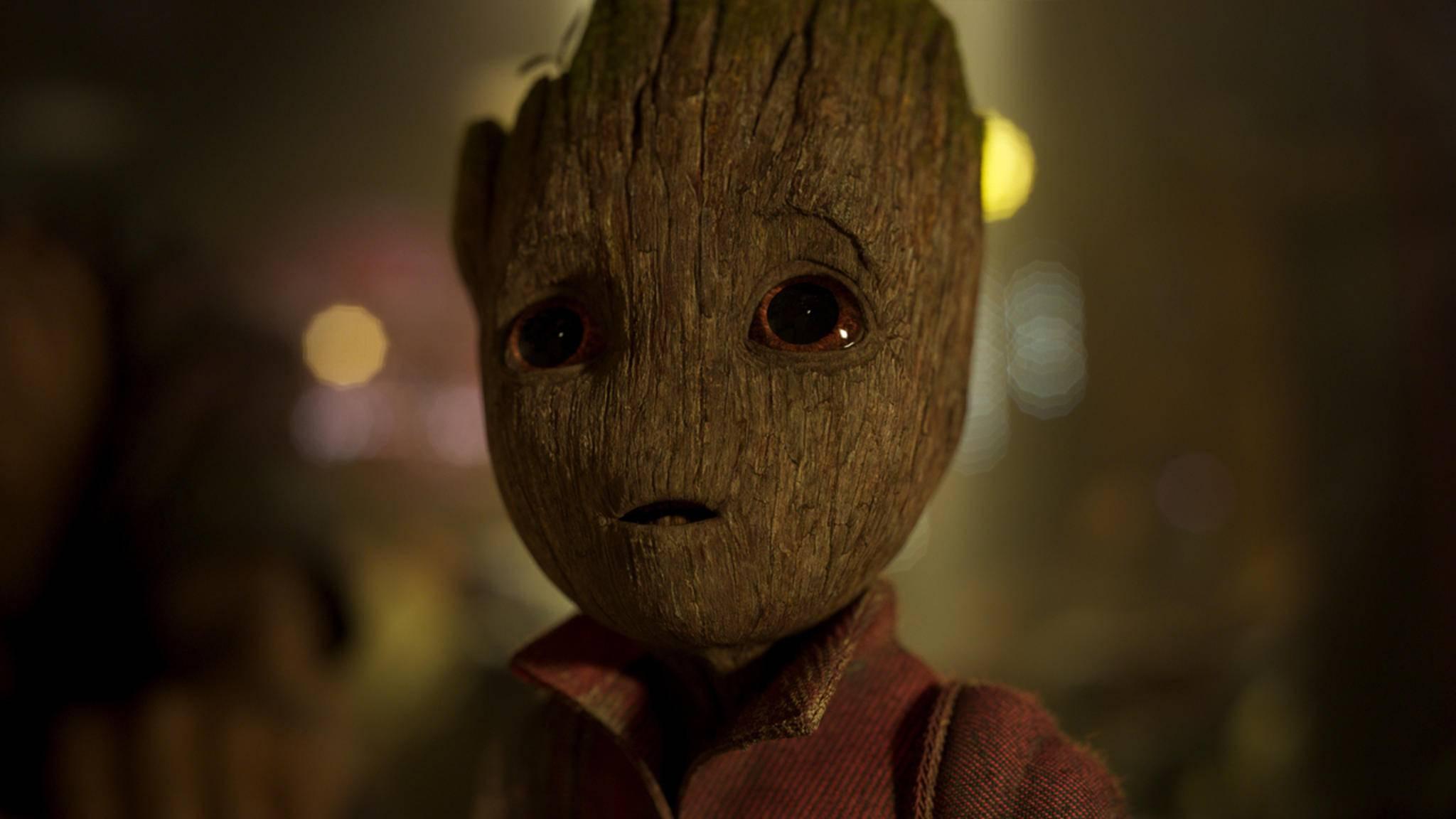Ob wir einen ähnlich staunenden Ausdruck auf Teenie-Groots Gesicht sehen, wenn dieser erstmals seinen Mentor trifft?