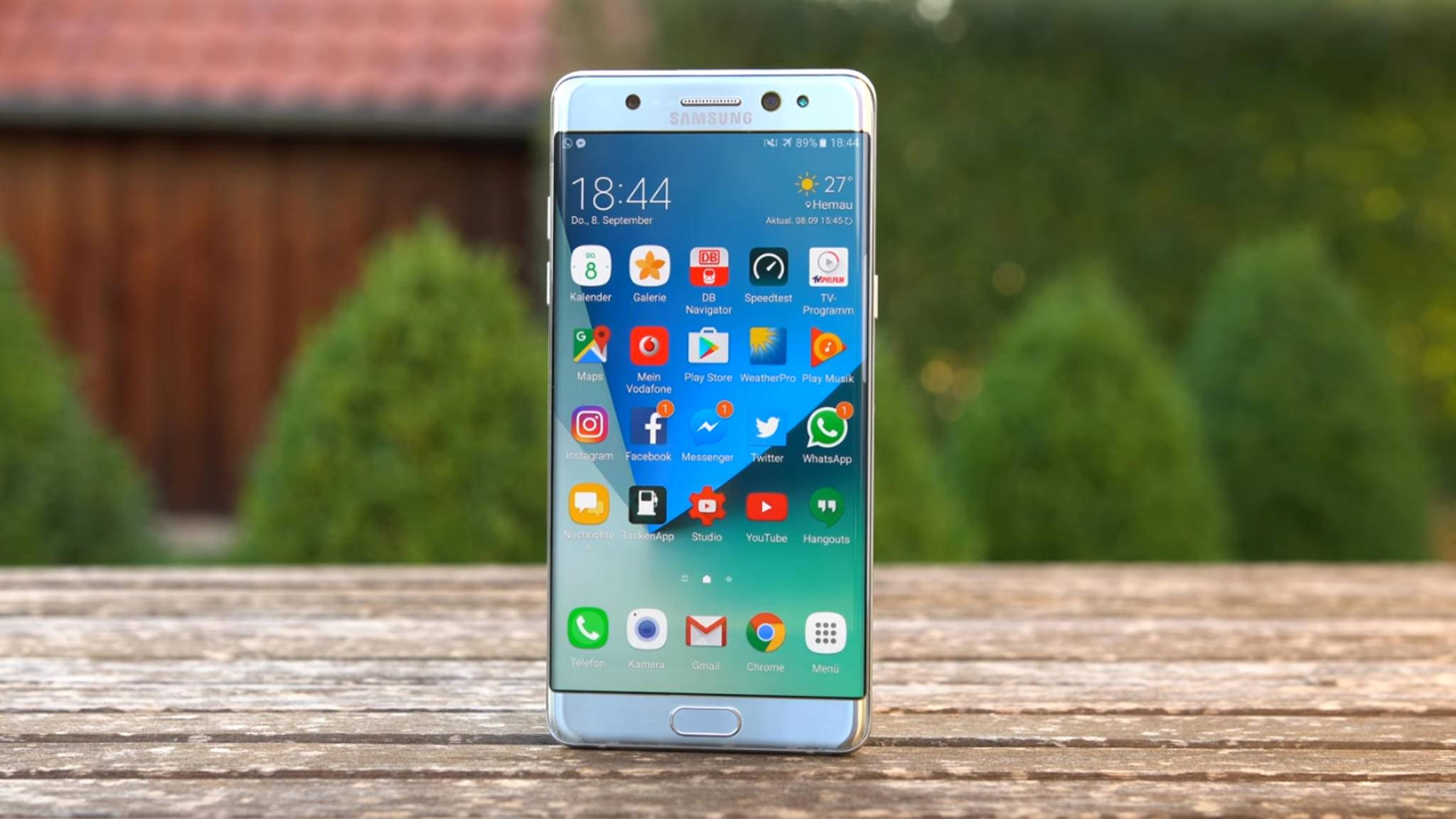 Kommt das Galaxy S8 Plus an die Screen-Größe des Galaxy Note 7 (Bild) heran?