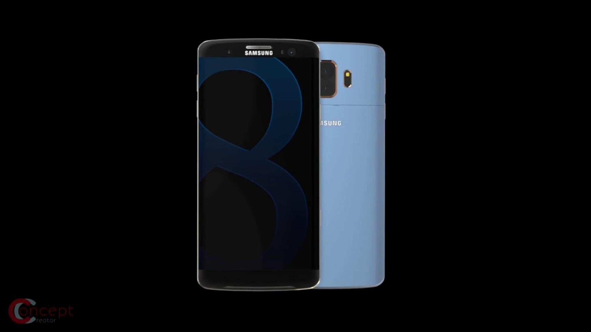 Ein Galaxy-S8-Konzeptbild: Lange sah es so aus, also sollte dieses Modell die erste Samsung-Doppelkamera bekommen.