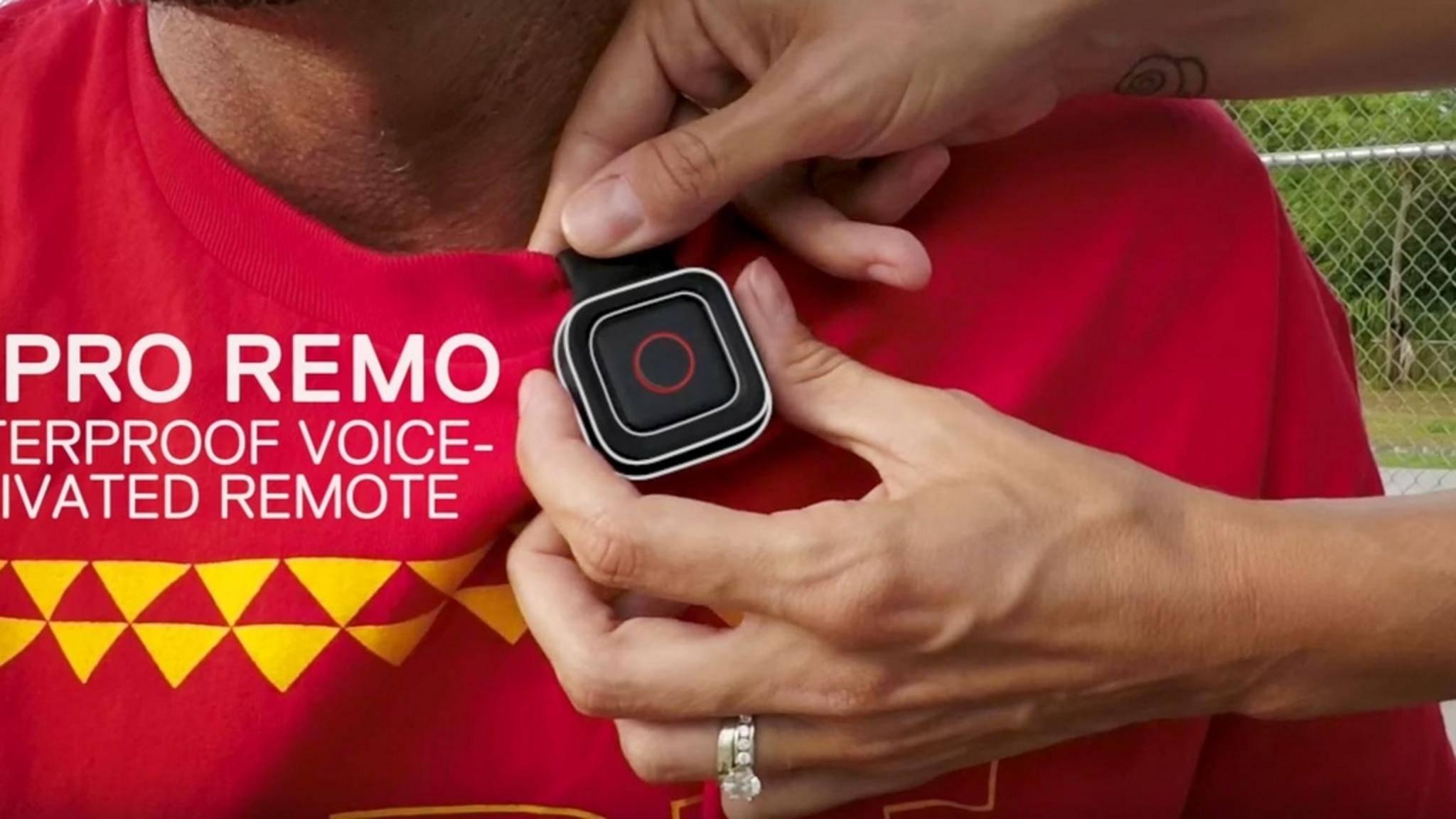 Die Sprach-Fernbedienung Remo funktioniert mit der GoPro Hero 5.
