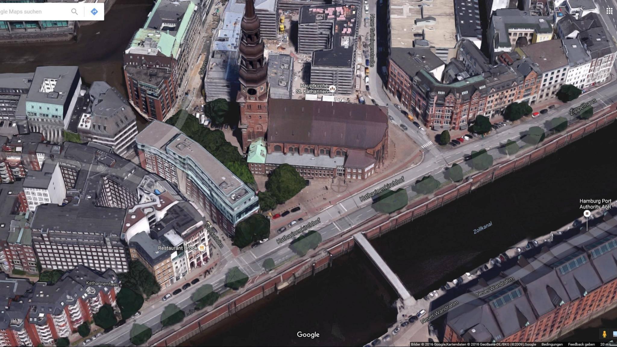 Die 3D-Ansicht von Google Earth lässt sich mit einem Hubschrauberflug über die Stadt vergleichen.