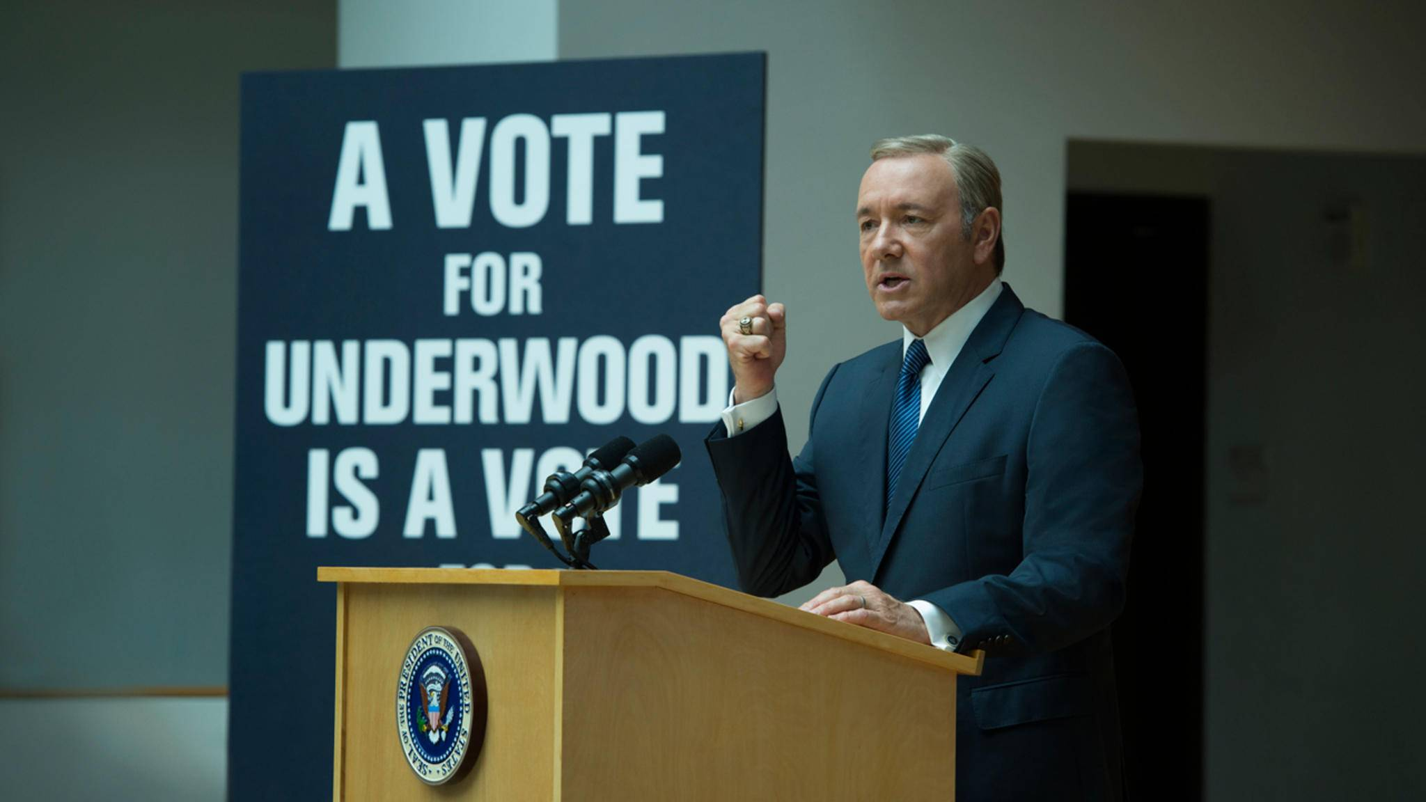 """Frank Underwood (Kevin Spacey) zieht in """"House of Cards"""" alle Register der politischen Intrige."""
