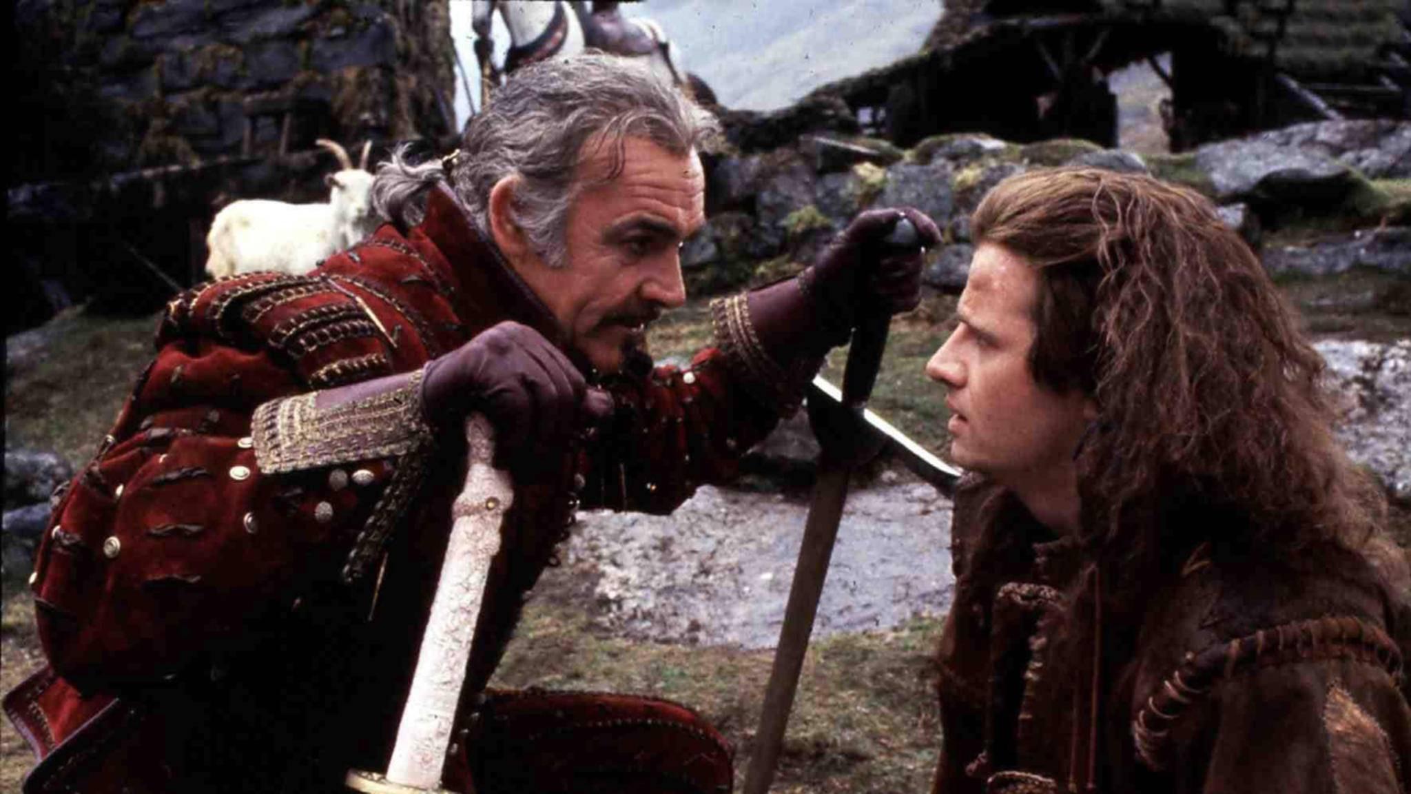"""Neben Christopher Lambert (r.) hat auch Sean Connery in """"Highlander"""" mitgespielt."""