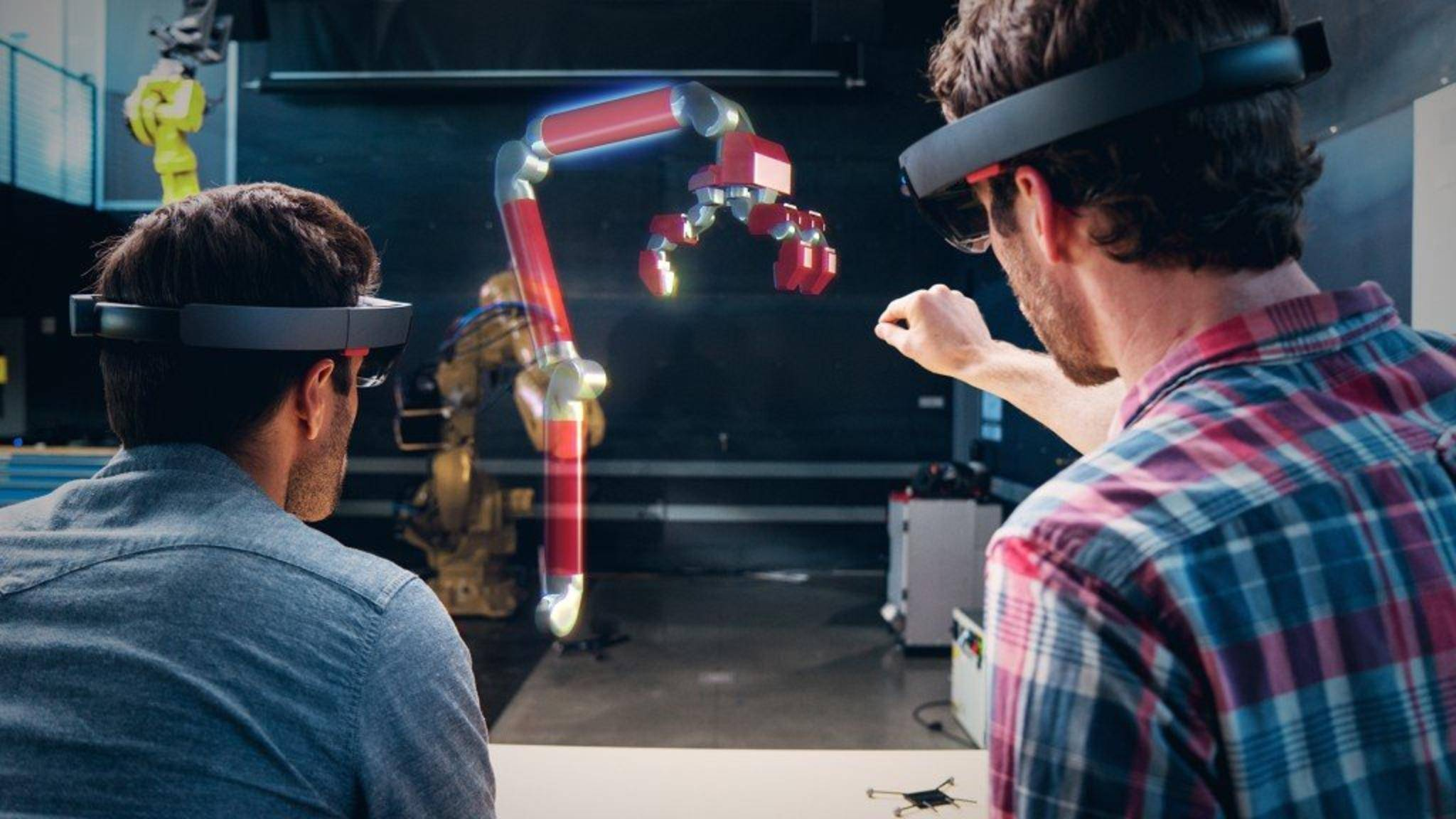 Die Microsoft HoloLens projiziert Hologramme in das Sichtfeld des Trägers.