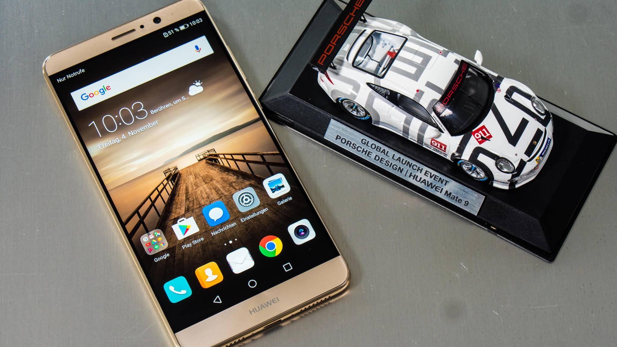 Hatte noch recht dicke Displayränder: das Huawei Mate 9.