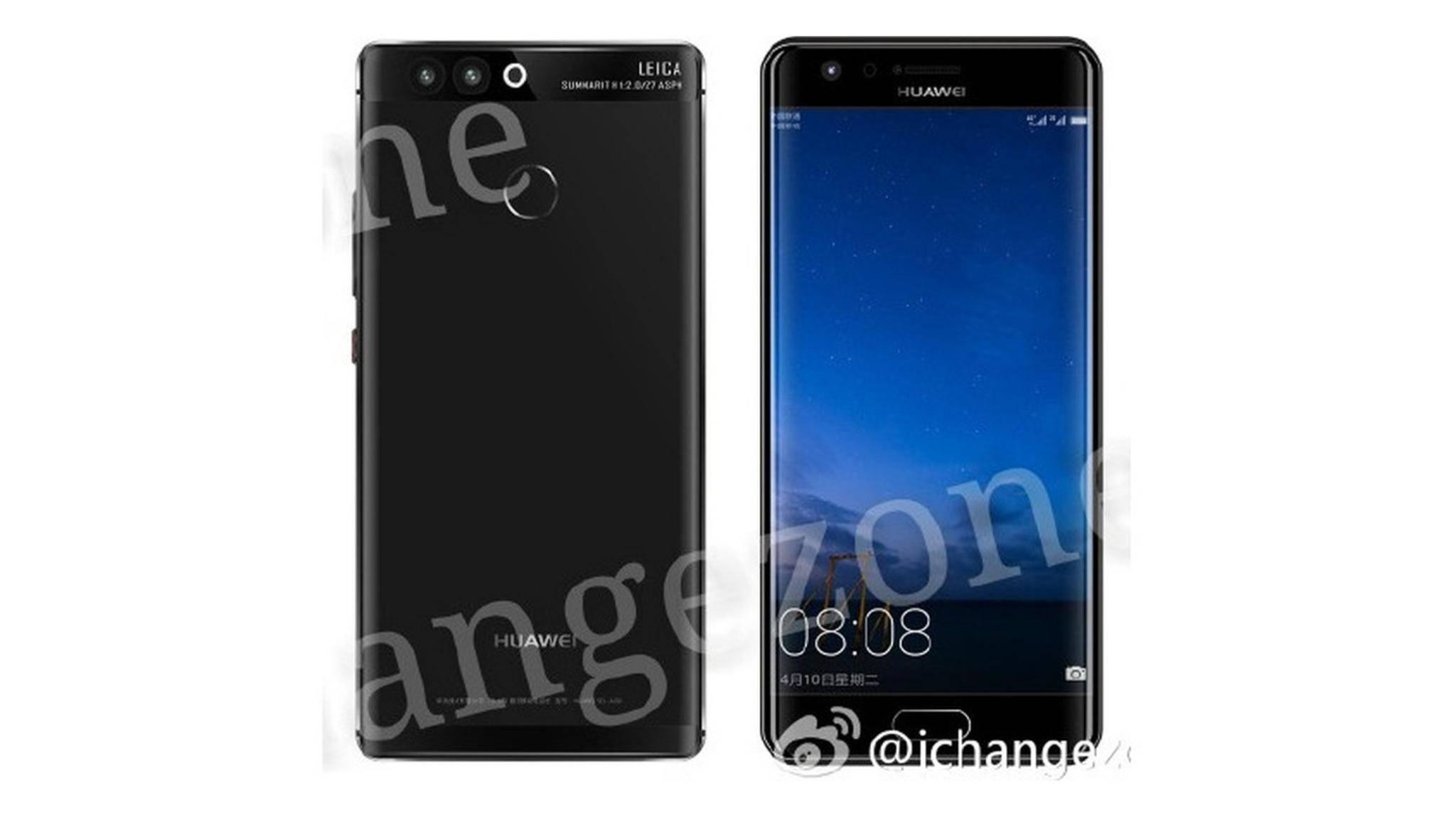 Das kommende Smartphone-Flaggschiff Huawei P10 soll auch als Dual-Edge-Modell erscheinen.