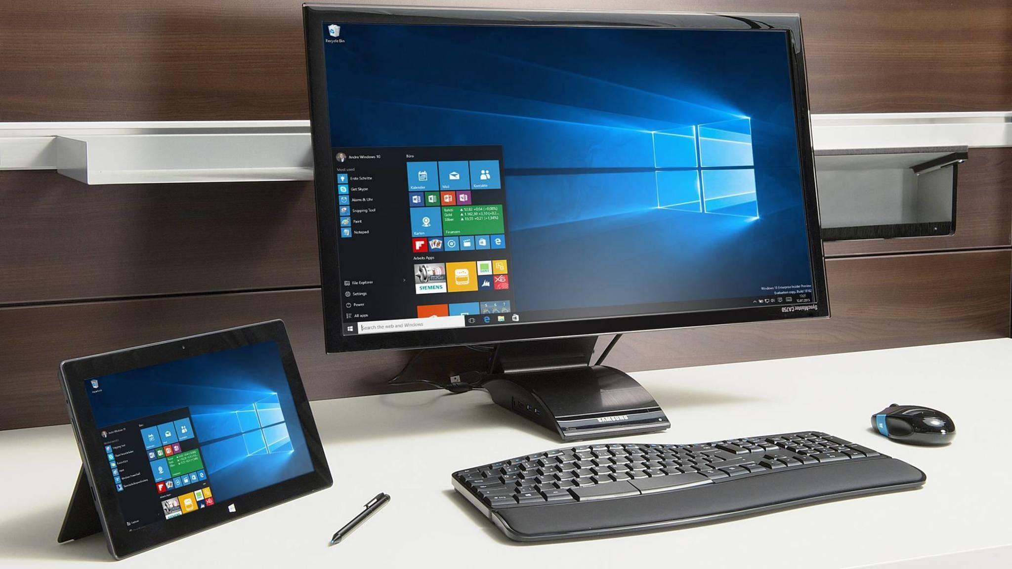 Die Retail oder FPP-Versionen aus dem Handel umfassen das komplette Windows 10-Paket.