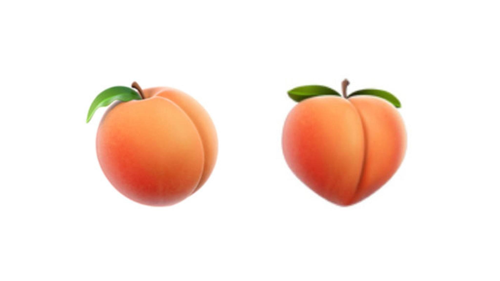 Das neue Pfirsich-Emoji (links) kam bei vielen Nutzern nicht gut an, nun kehrt das alte Symbol (rechts) zurück.