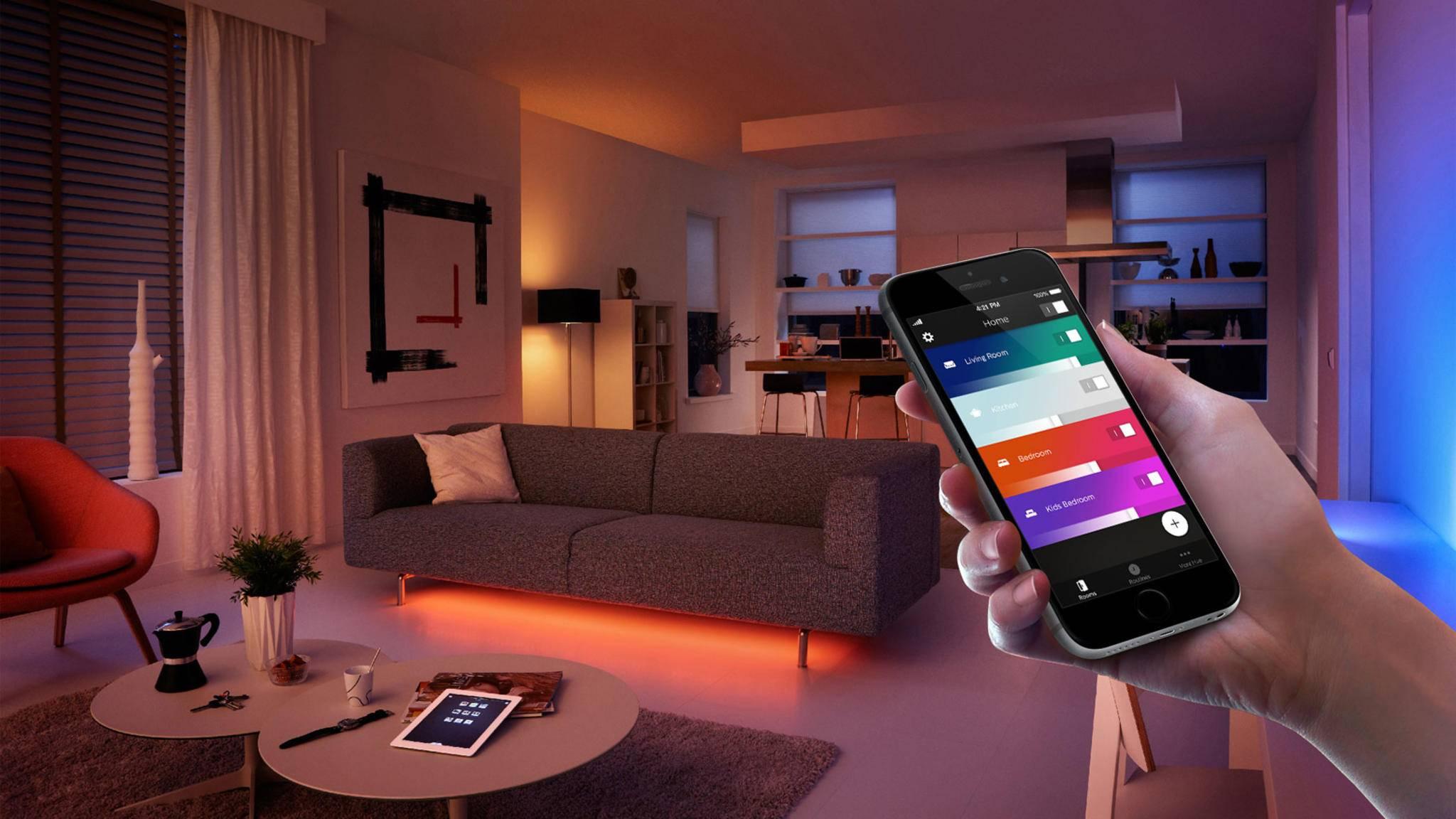 Ein Update bringt die Philips Hue-App jetzt auch aufs iPad.
