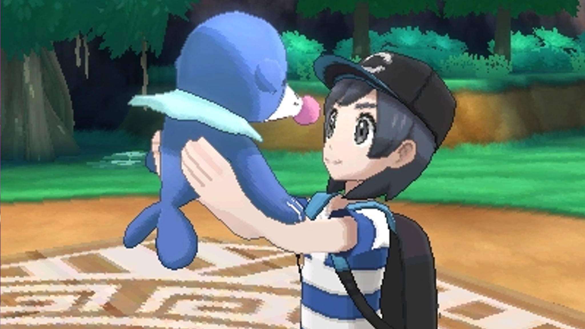 """In """"Pokémon Sonne"""" und """"Pokémon Mond"""" sammelt der Spieler kleine Monster."""
