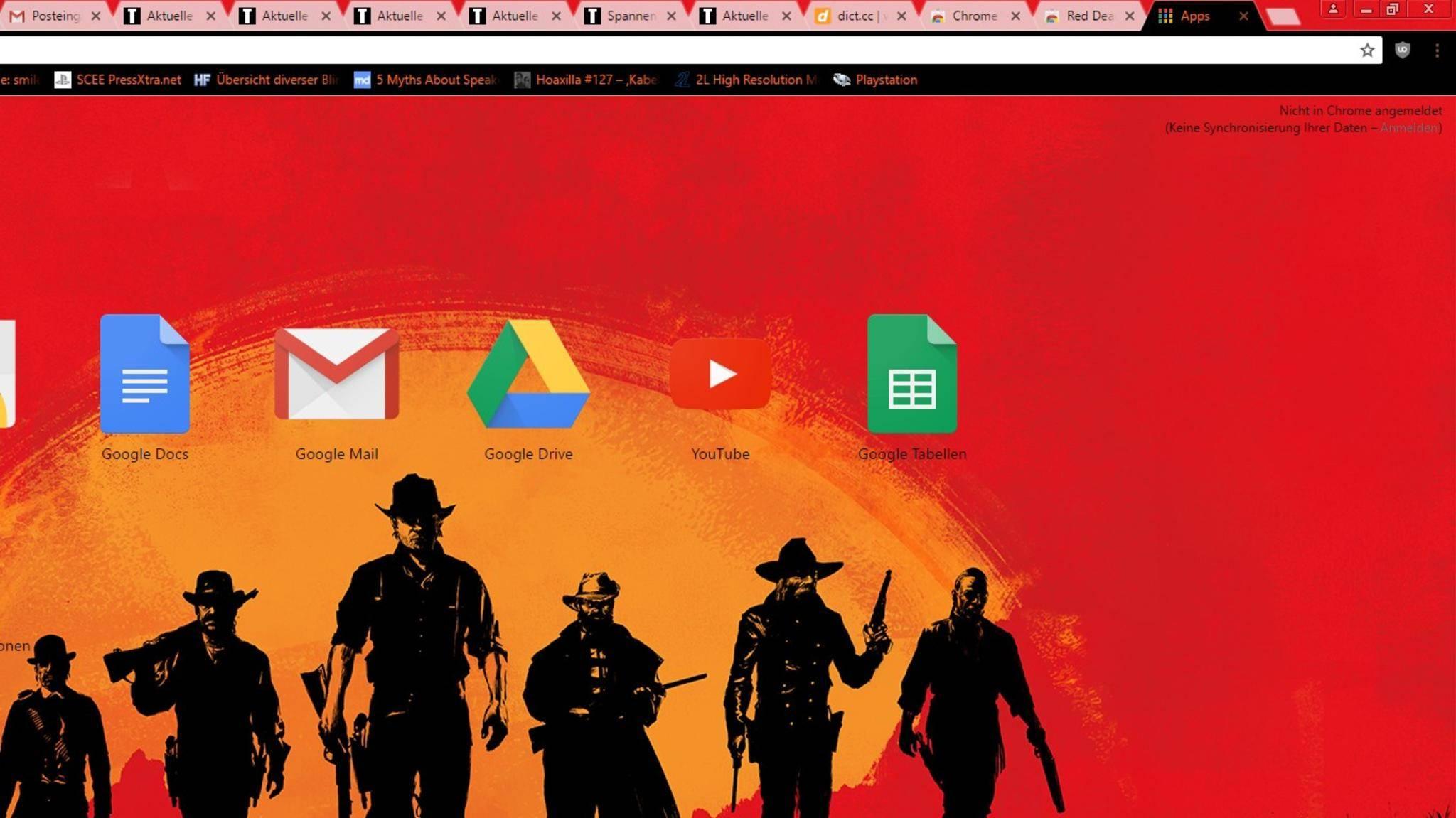 """Kaum angekündigt, gibt es """"Red Dead Redemption 2"""" als Chrome-Theme."""
