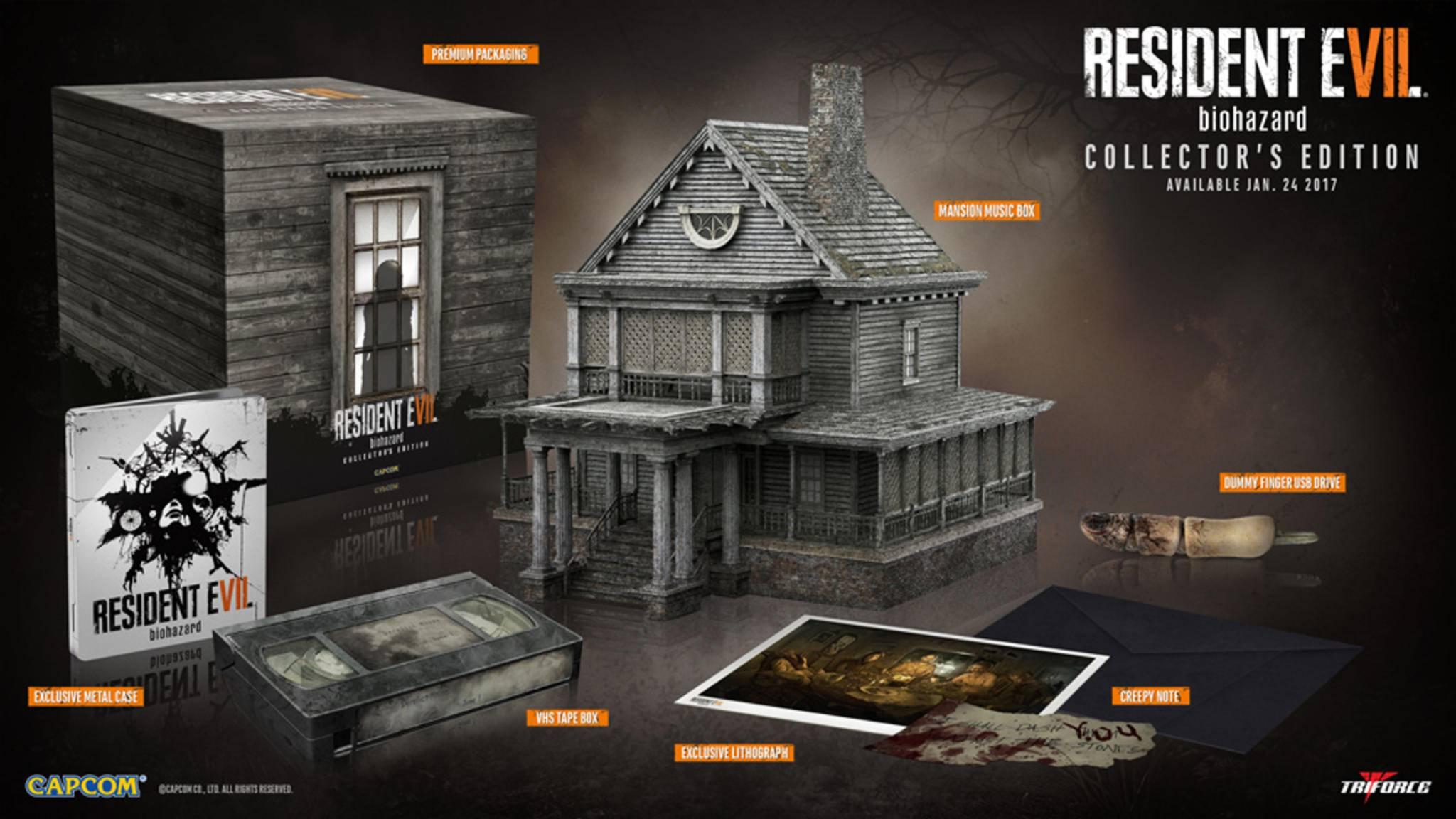 """Das steckt alles in der Collector's Edition von """"Resident Evil 7""""."""