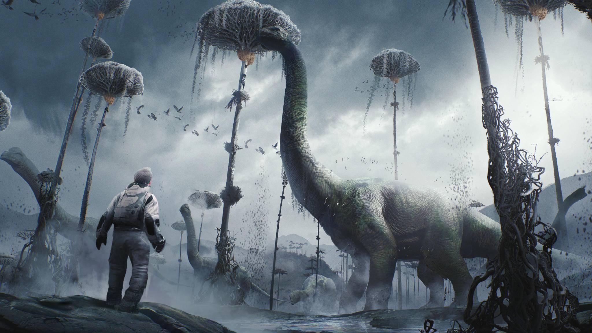 """Prähistorisches Adventure: """"Robinson: The Journey""""."""