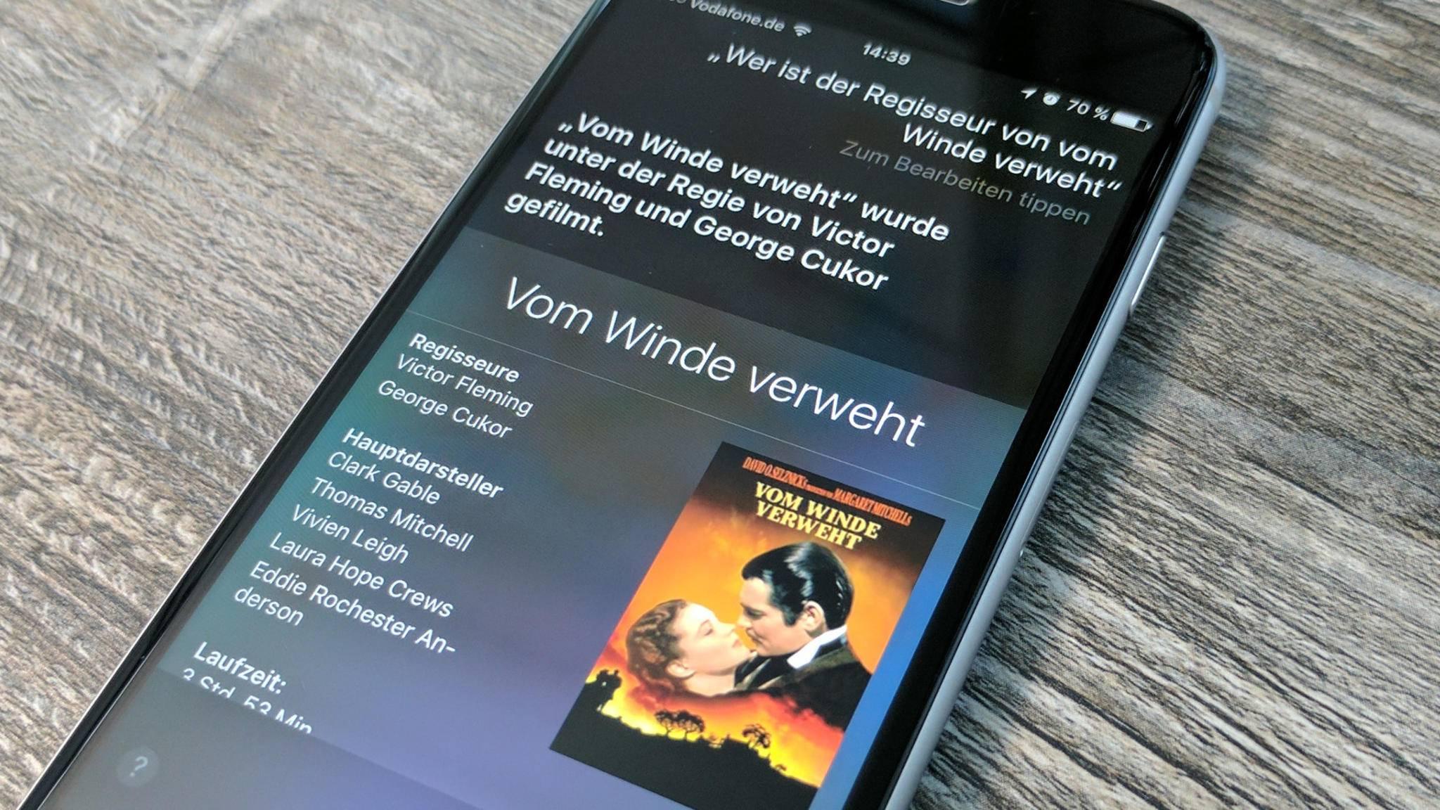 Siri kennt zwar nur die bekanntesten Filme, für eine Auskunft ist sie aber immer gut.