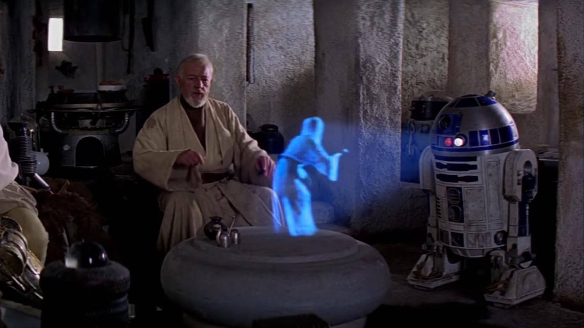 """Kann sich bald jeder Hologramme wie Leia in """"Star Wars"""" auf dem Fernseher Zuhause ansehen?"""