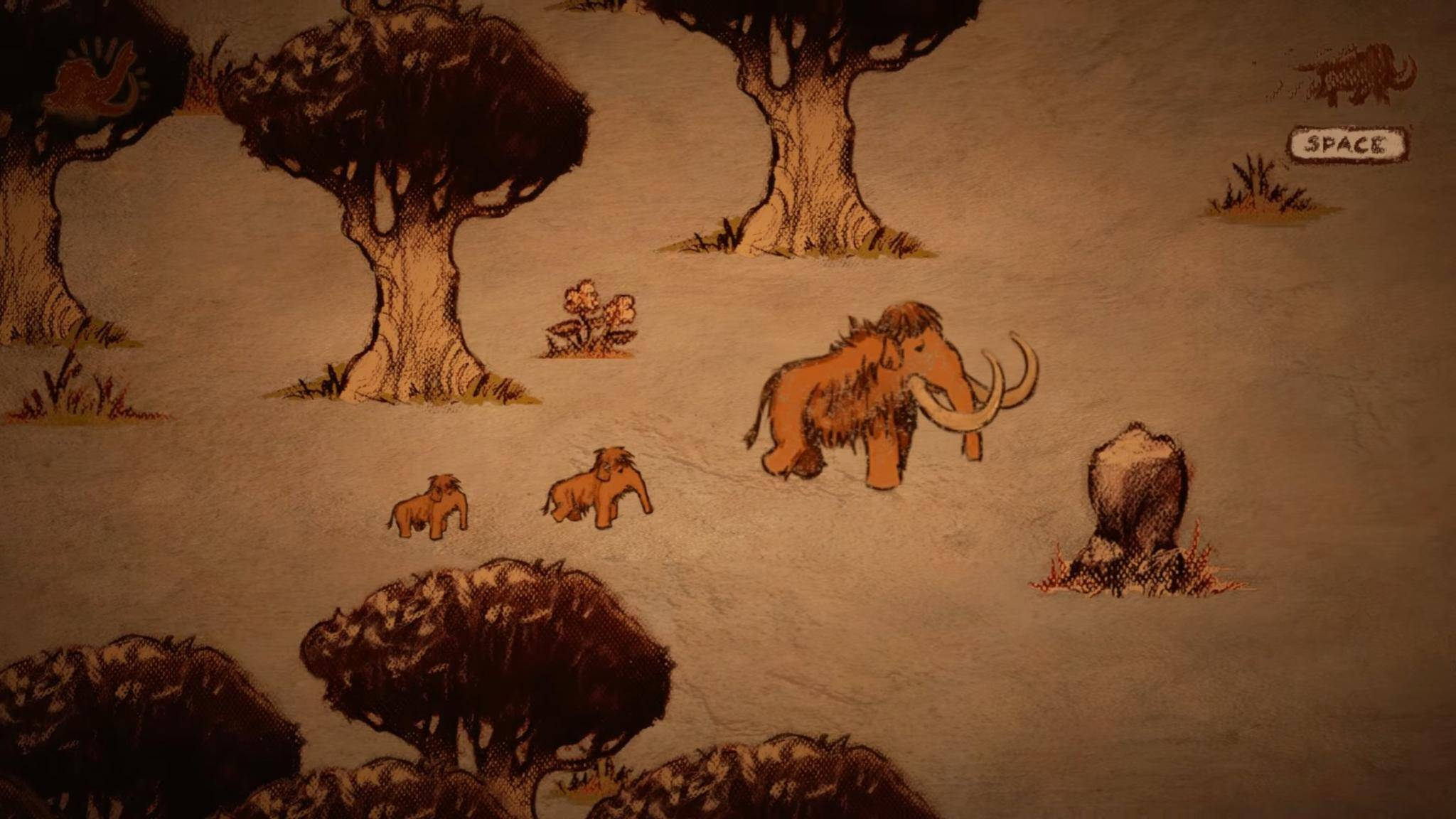 """Alte Kunststile wie die Höhlenmalerei in """"The Mammoth: A Cave Painting"""" könnten Dich zu neuen Wagnissen inspirieren."""