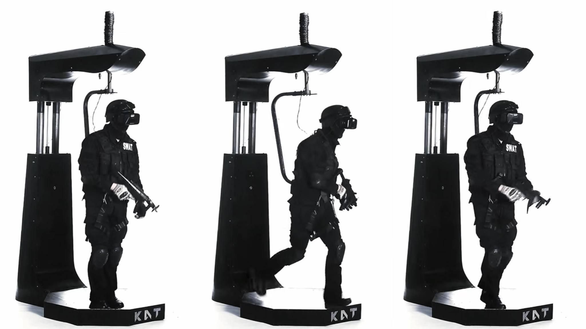Mit dem KatVR Walk kann man sich in die virtuelle Realität im wahrsten Wortsinne reinhängen.
