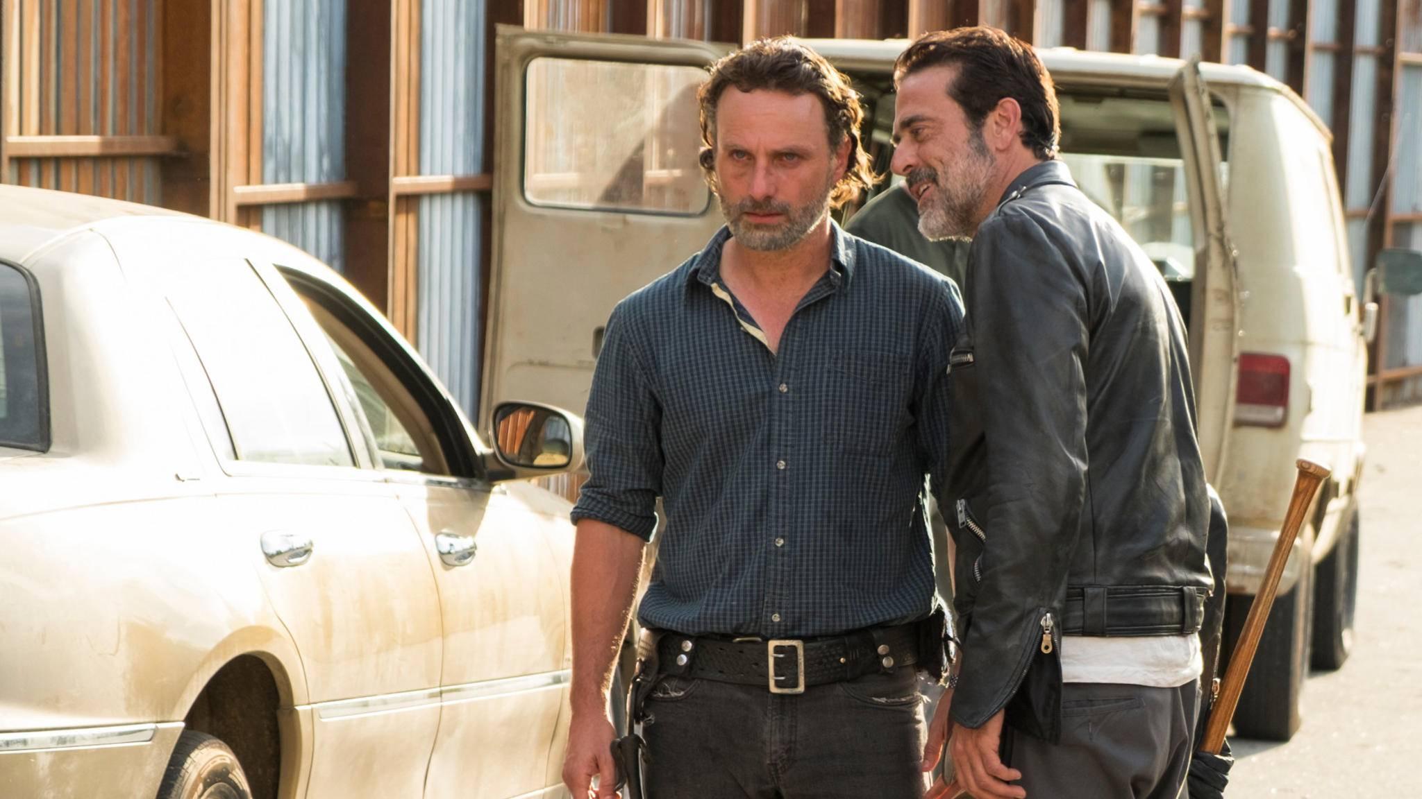 Andrew Lincoln und Jeffrey Dean Morgan gehen sich immer wieder gegenseitig auf die Nerven.