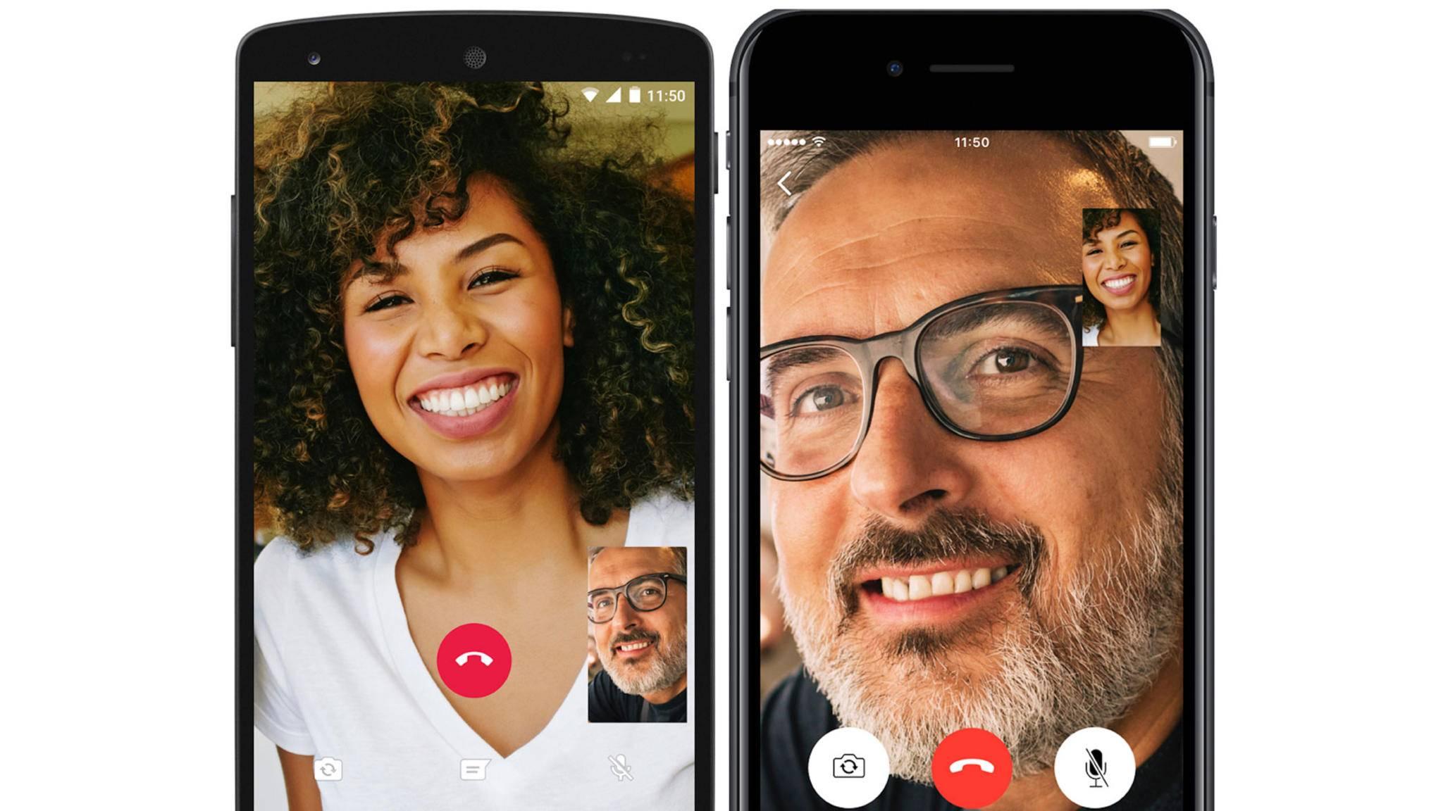 Videotelefonie per WhatsApp ist dank des jüngsten Updates möglich.