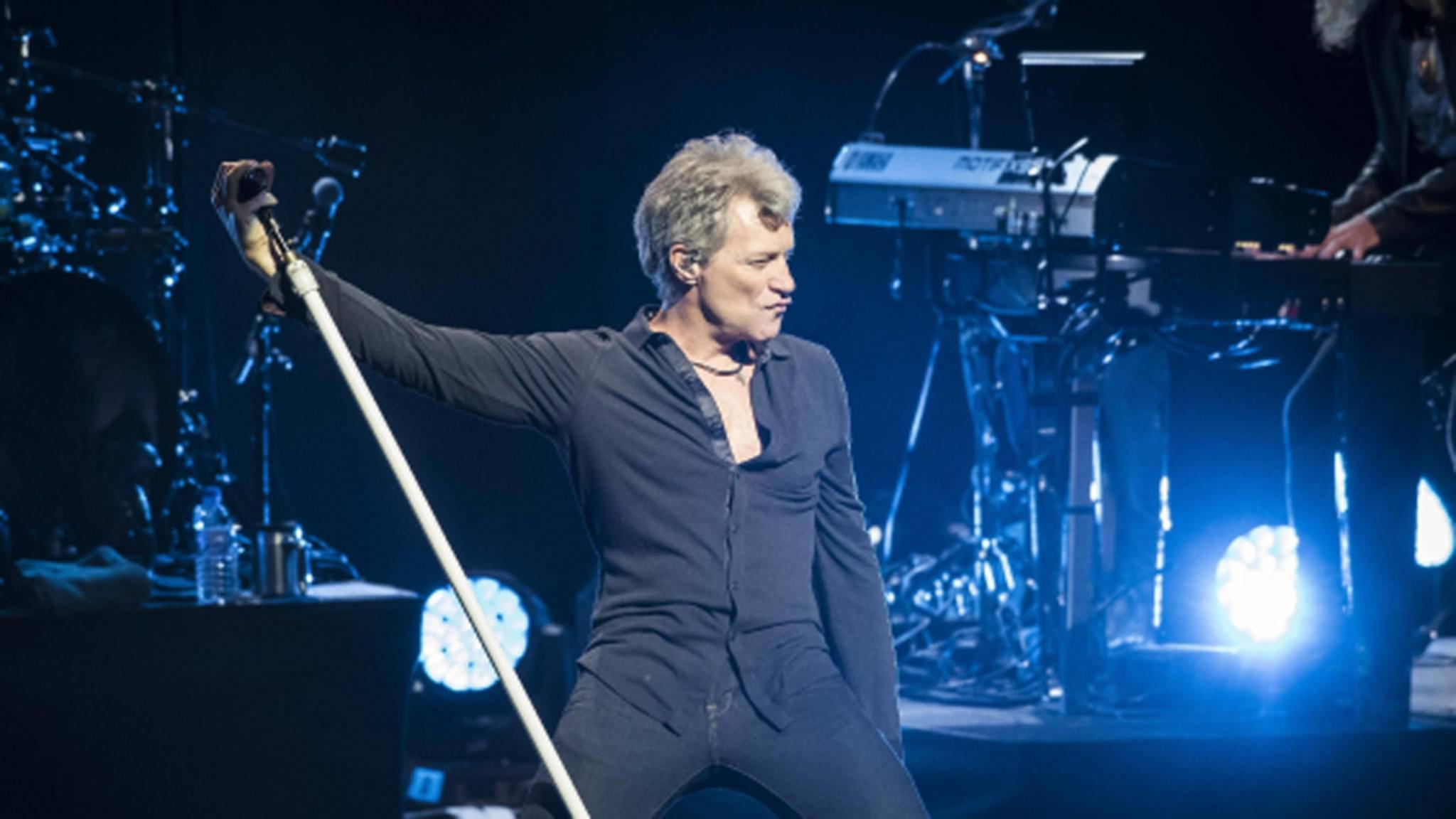 Immer noch am Rocken: Jon Bon Jovi im Londoner Palladium.