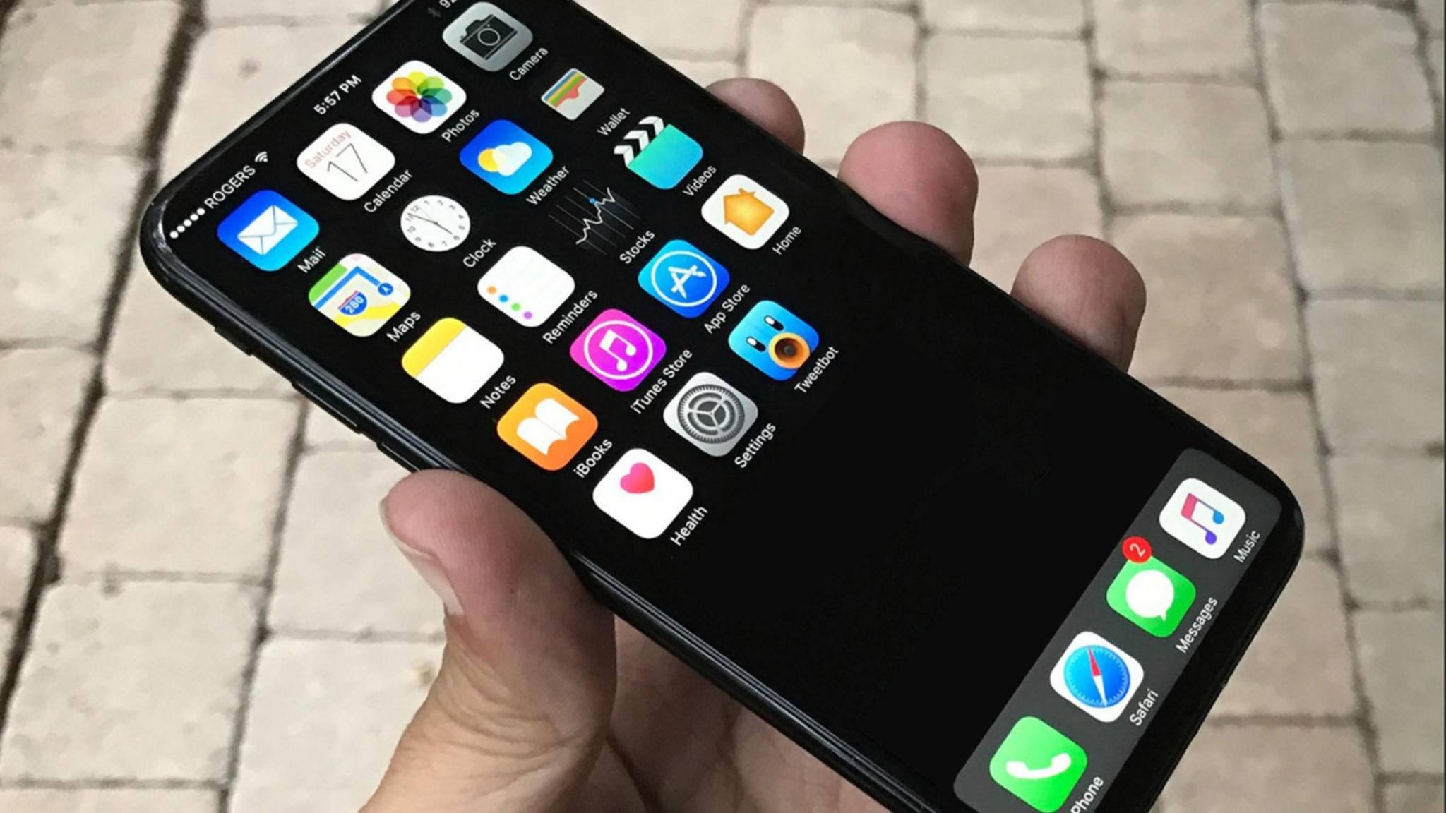 Schick wäre es ja, so ein iPhone 8 ohne Displayränder ...