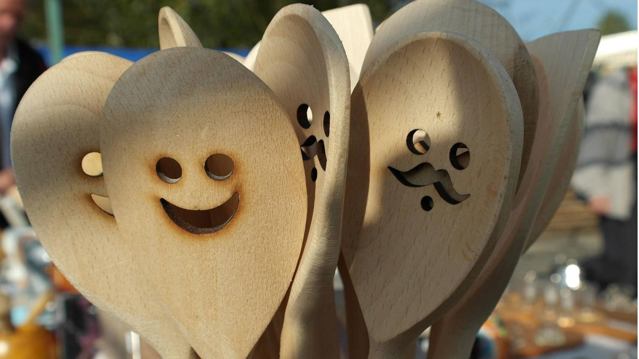 Holzlöffel machen glücklicher als Plastikbesteck.