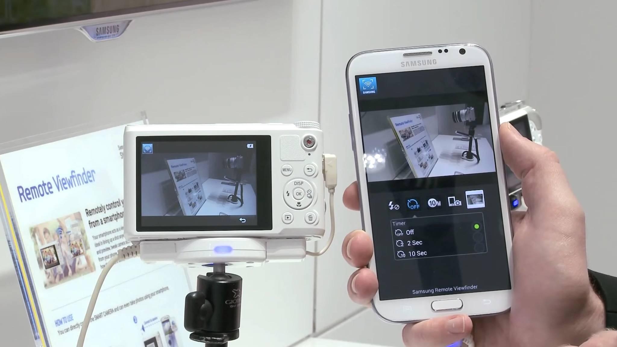 Mit der passenden App lässt sich die Kamera ganz einfach fernsteuern.