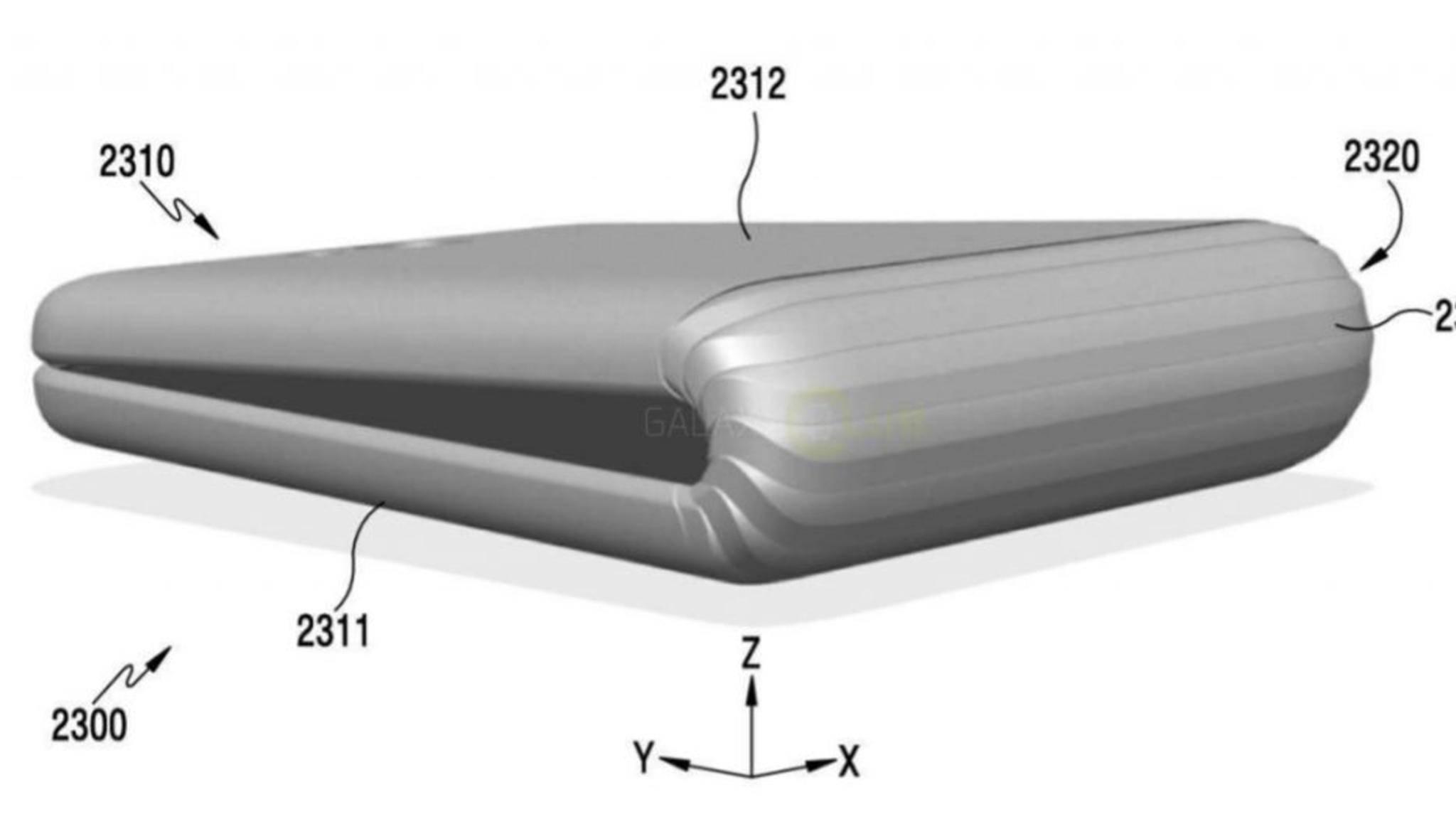 So könnte das faltbare Smartphone Samsung Galaxy X aussehen.