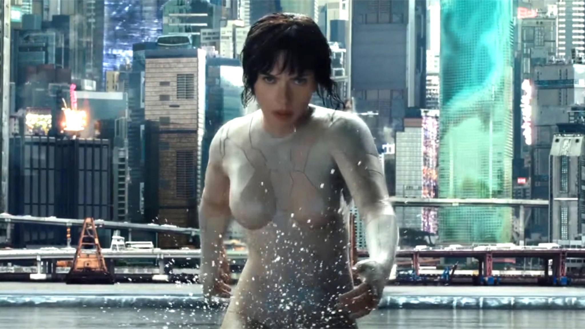 Mithilfe ihres Thermoptic Suits kann sich Major Motoko Kusanagi (Scarlett Johansson) unsichtbar machen.