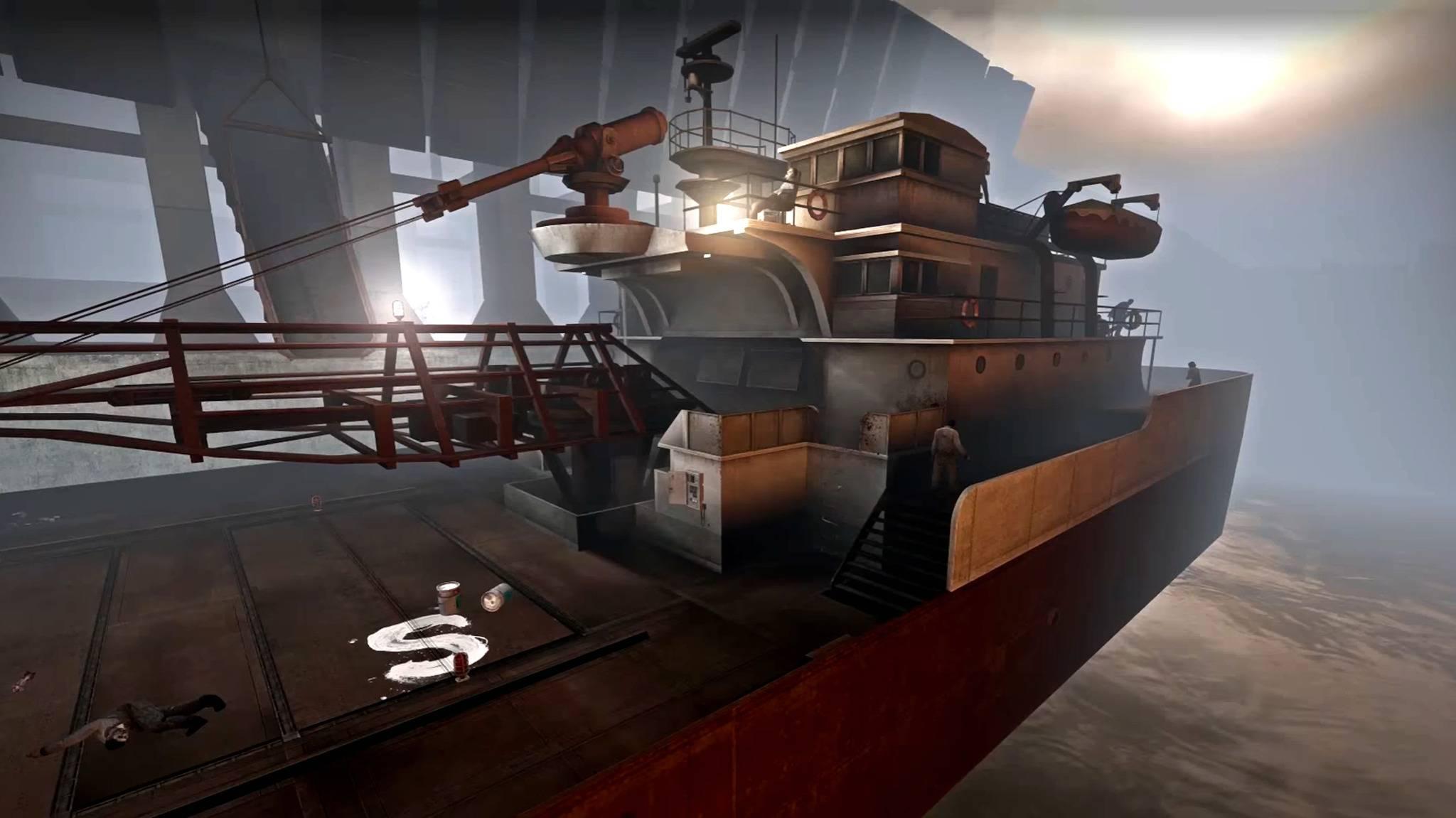"""Neben der Kampagne """"Dam it"""" gibt es eine neue Survival-Karte, die auf einem Schiff spielt."""