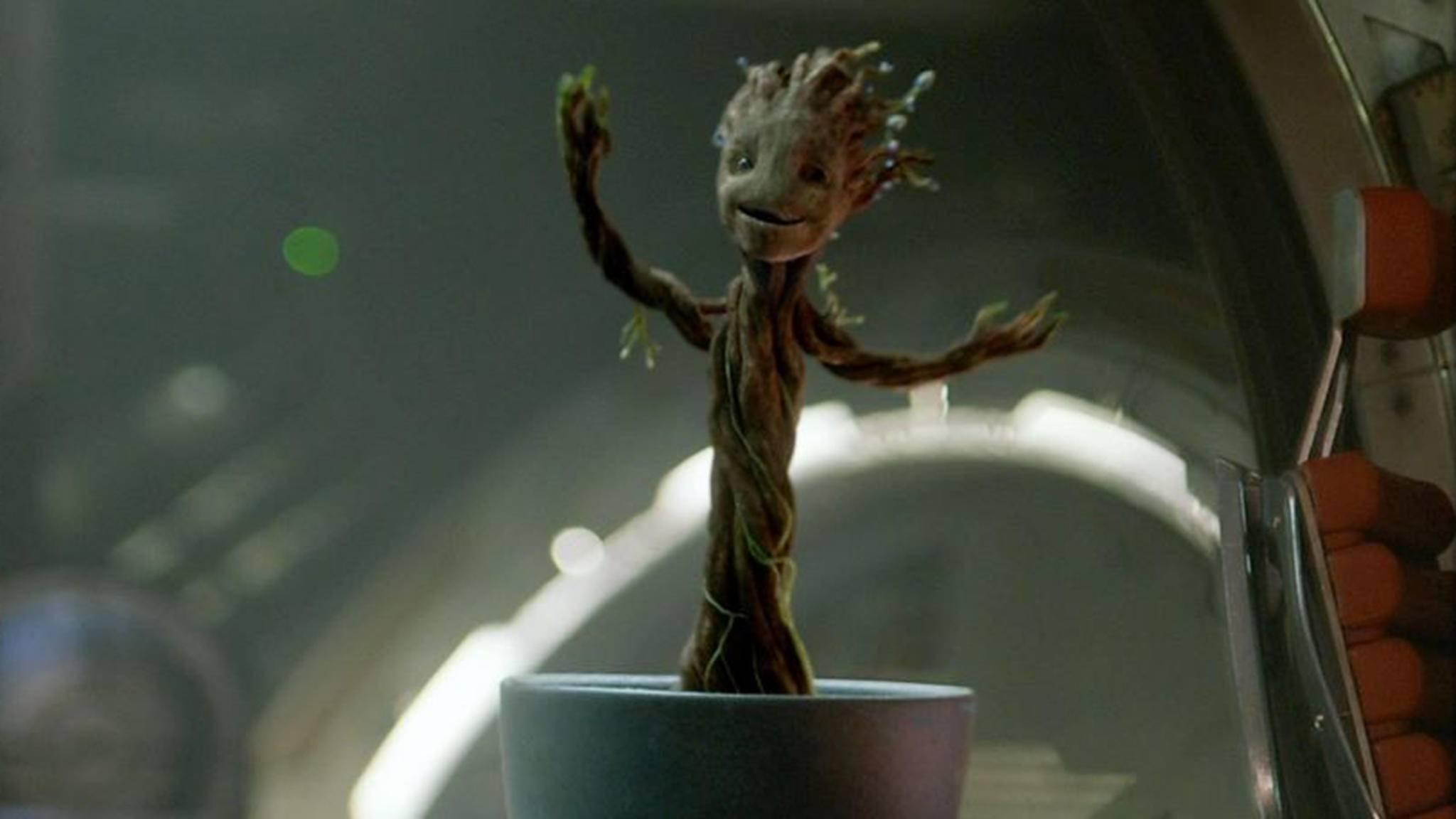 """Groot war schon am Ende des ersten """"Guardians of the Galaxy""""-Teils Fan von Peter Quills Musik. Das bleibt wohl auch im Sequel so."""