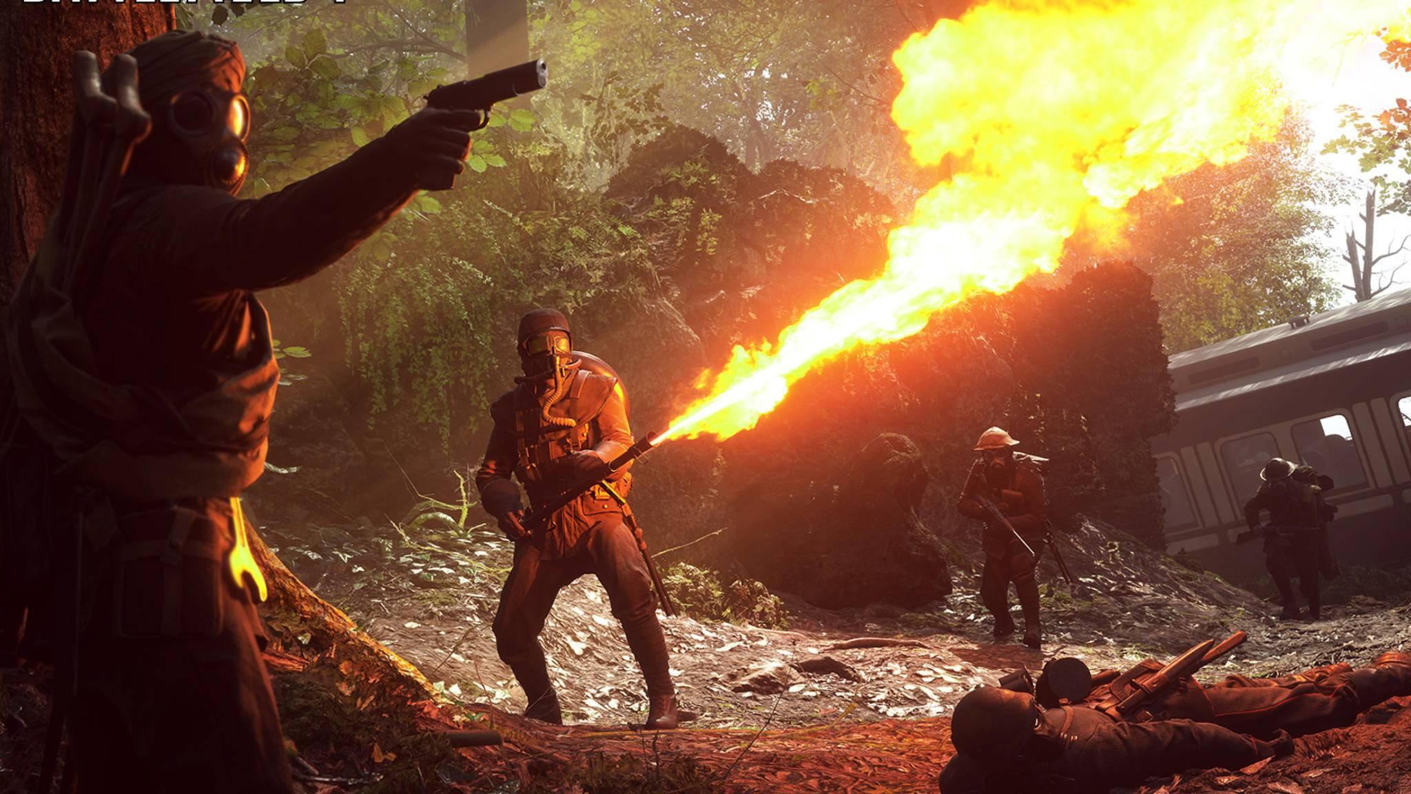 """Was wird das neue """"Battlefield (2018) bringen? Eine Szene aus dem aktuellen Teil """"Battlefield 1""""."""