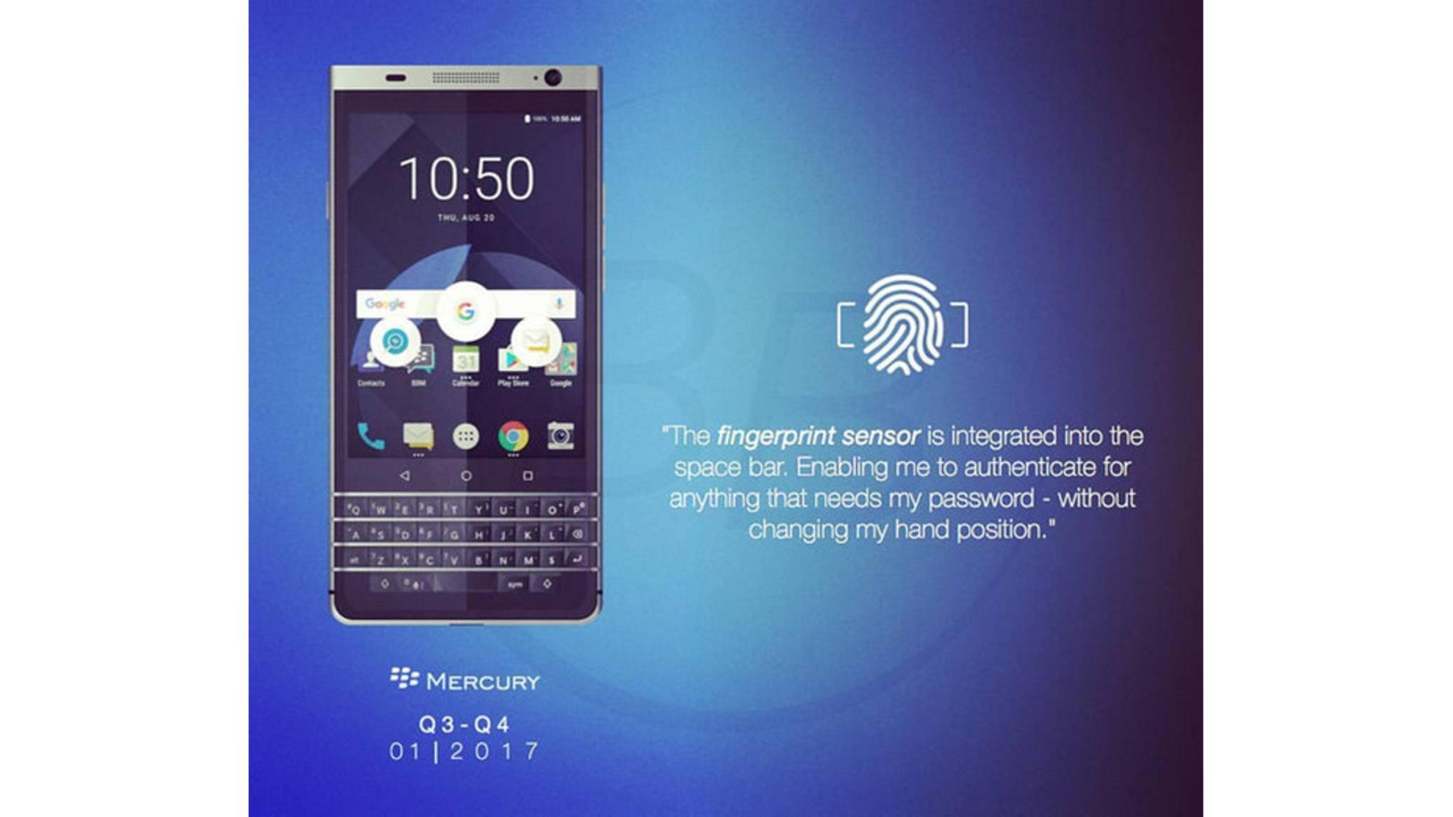 Das BlackBerry Mercury dürfte das letzte eigene Smartphone von BlackBerry werden.