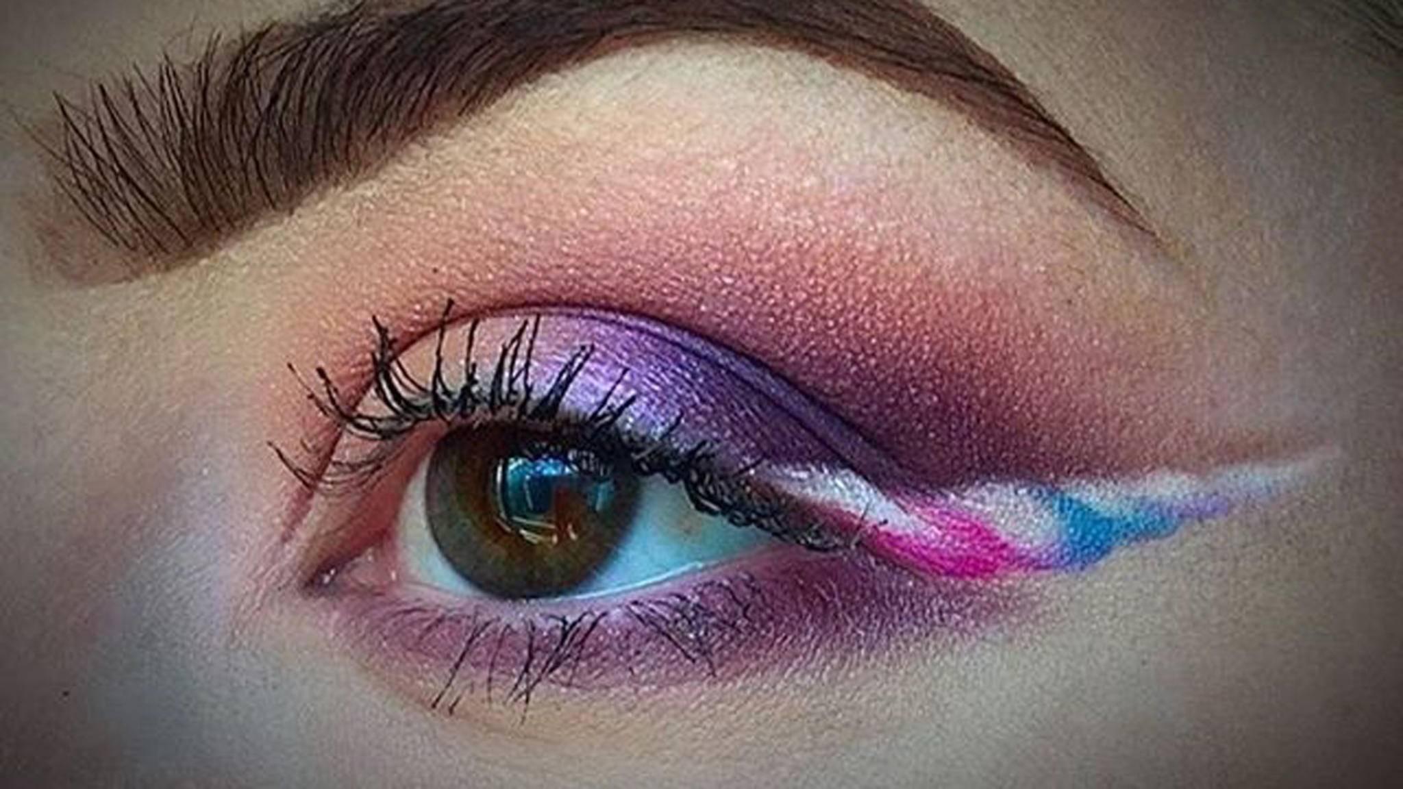 Der neueste Schrei in der Beauty-Welt: Einhorn-Eyeliner.