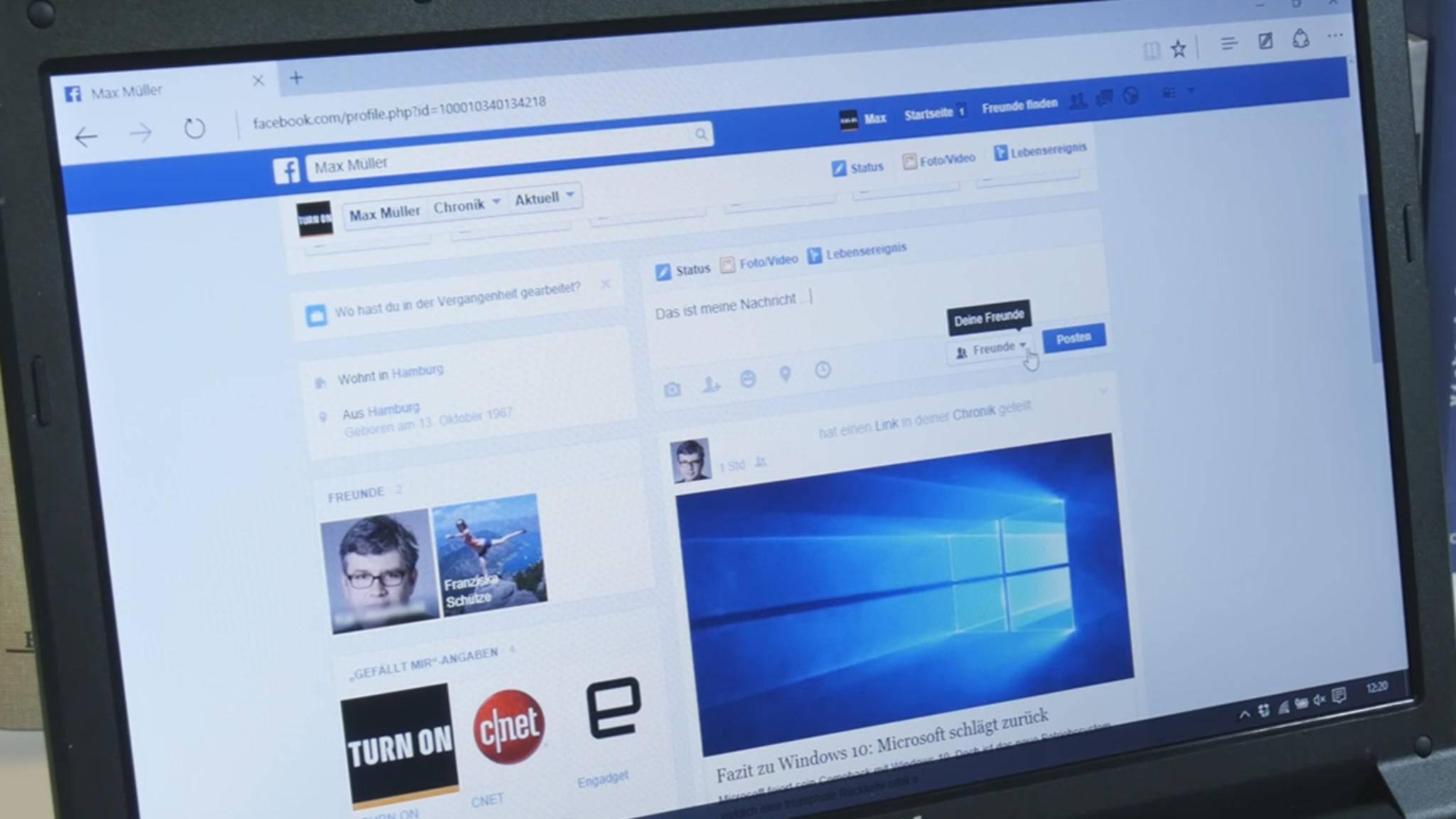 Facebook will reine Textbeiträge stärken – und plant die Einführung farbiger Hintergründe.