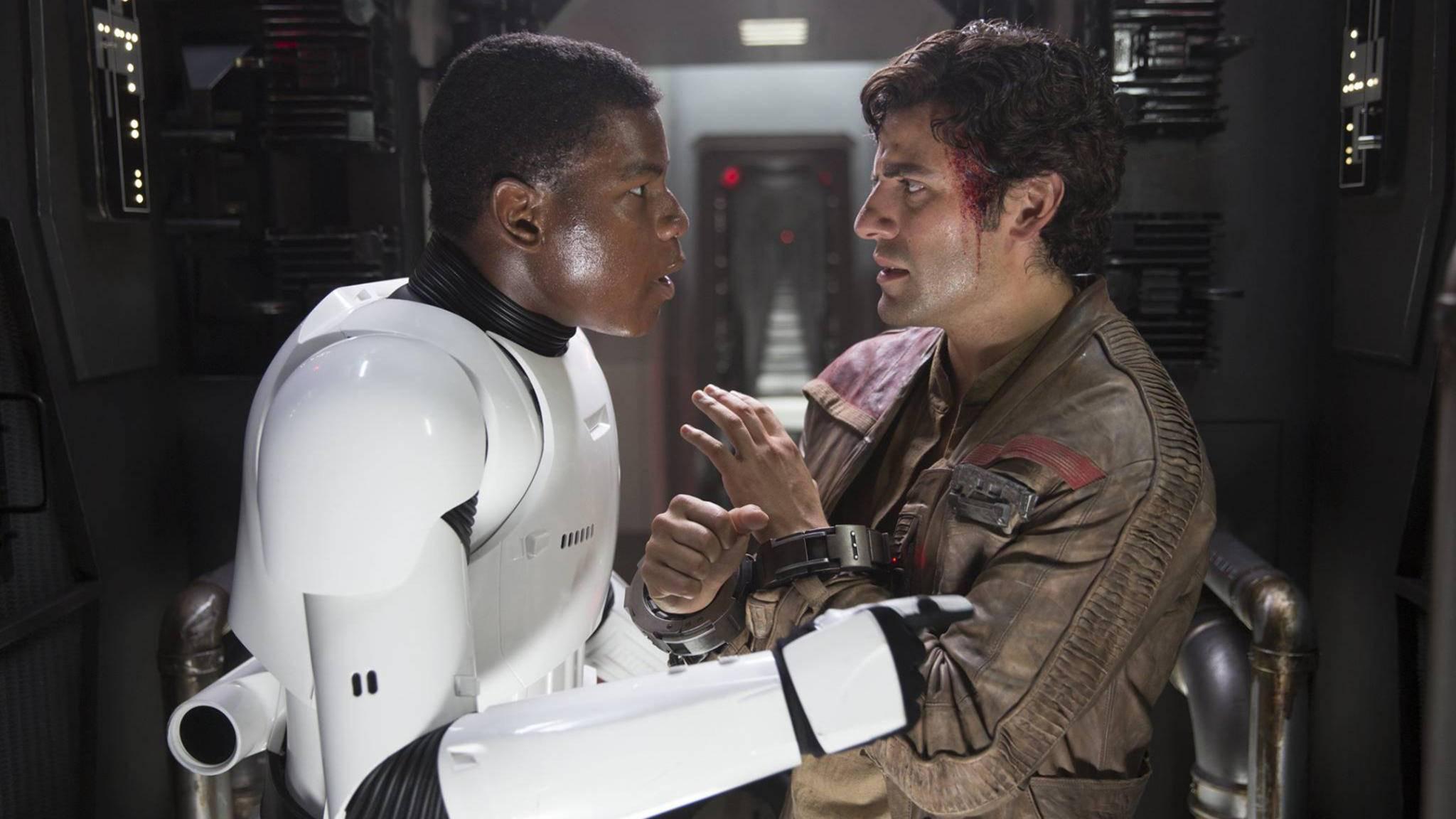 """John Boyega (l.) blickt zuversichtlich auf """"Star Wars: Episode IX""""."""