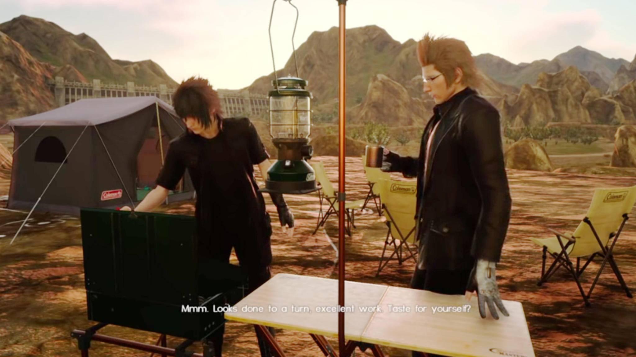 """In """"Final Fantasy 15"""" kommt echtes Camping-Gefühl auf."""