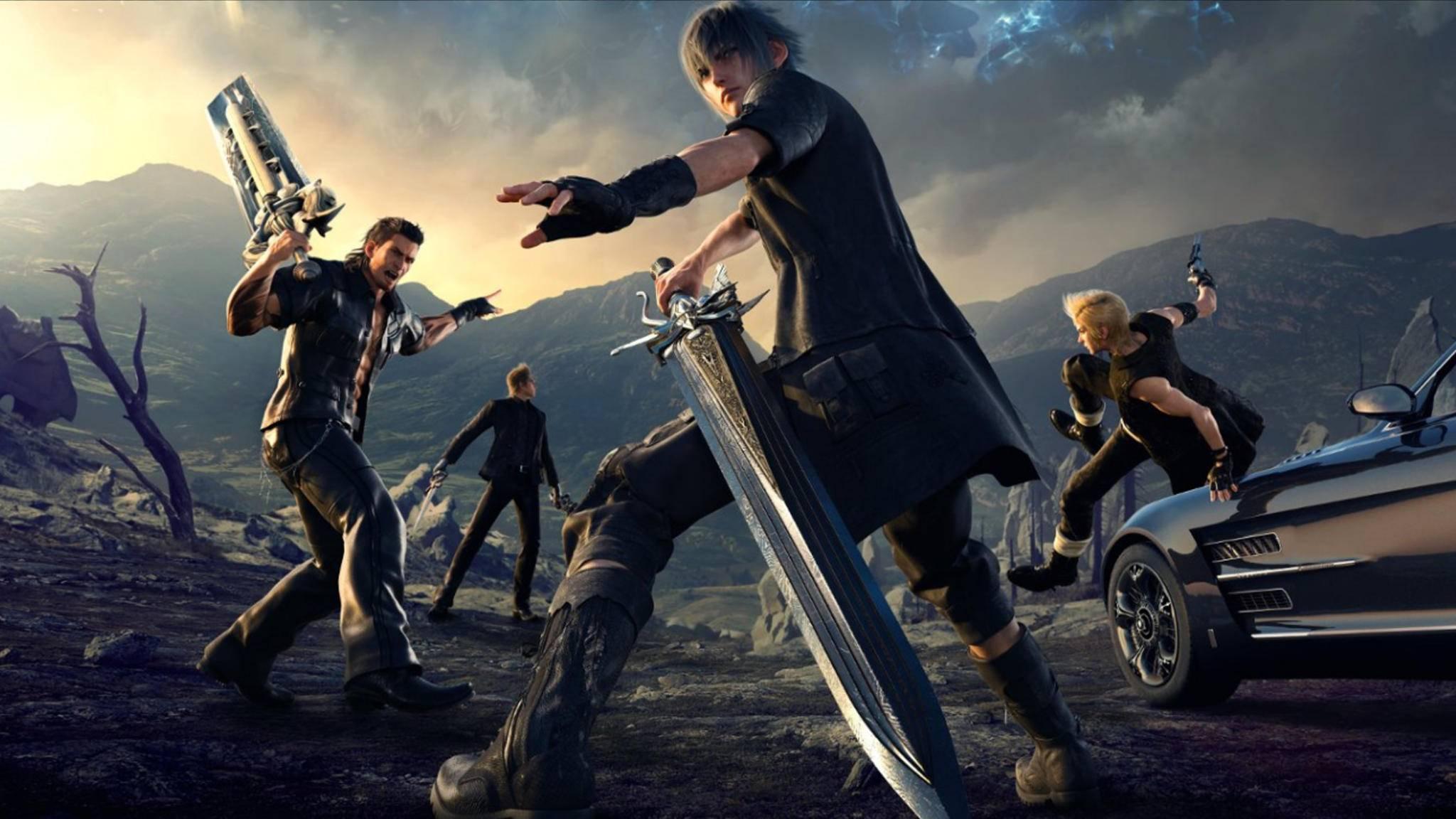 """Prinz Noctis und seine Clique mischen in """"Final Fantasy 15"""" die Spielwelt auf."""