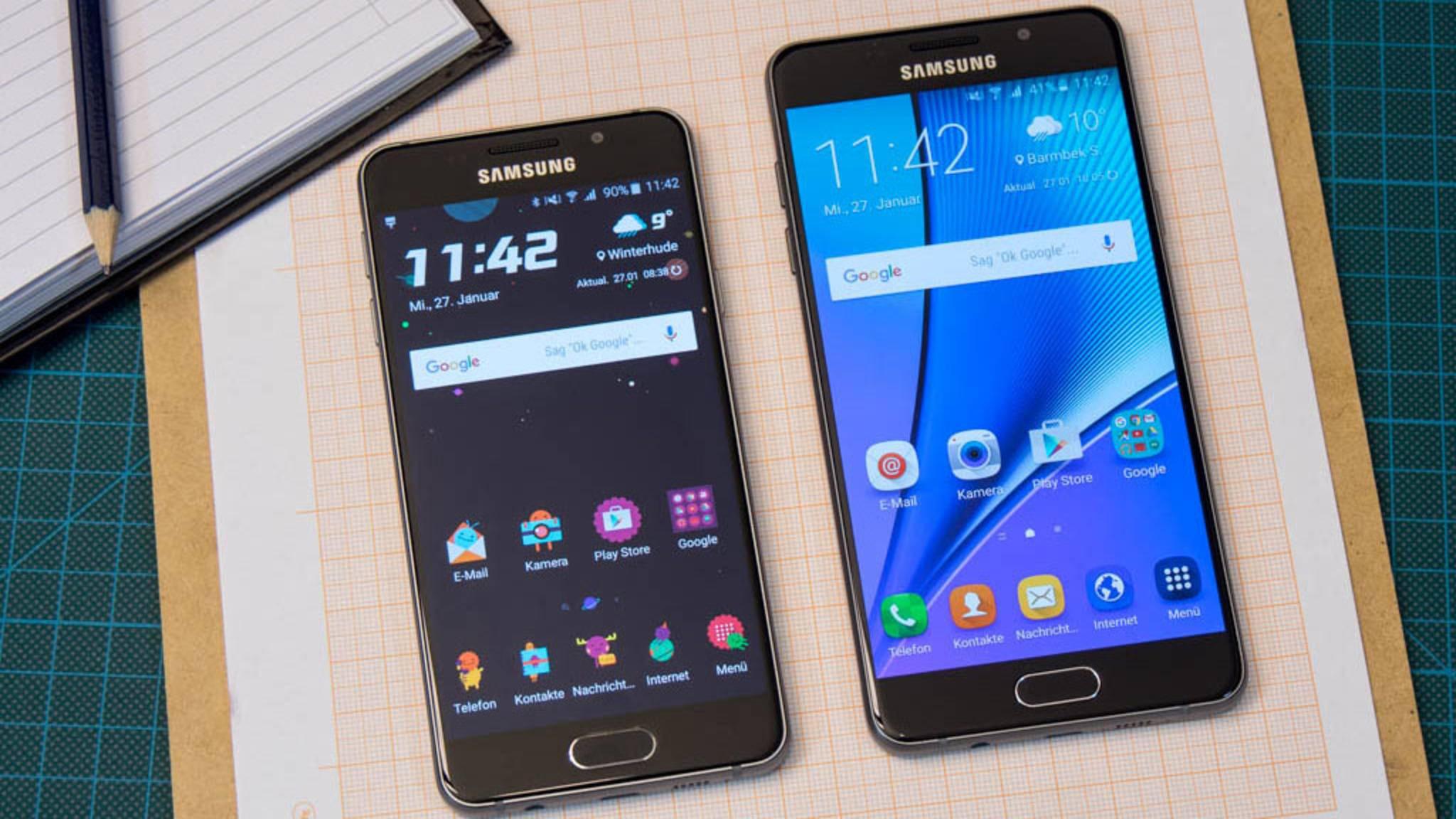 Bekommen bald Android 7.0 Nougat: Das Galaxy A3 und A5 aus 2016.