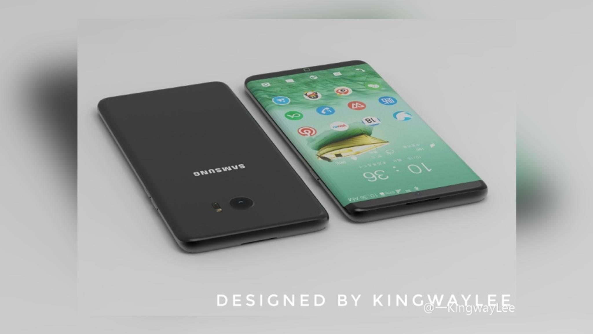 In seinem Design des Samsung Galaxy S8 greift KingwayLee aktuelle Gerüchte auf.