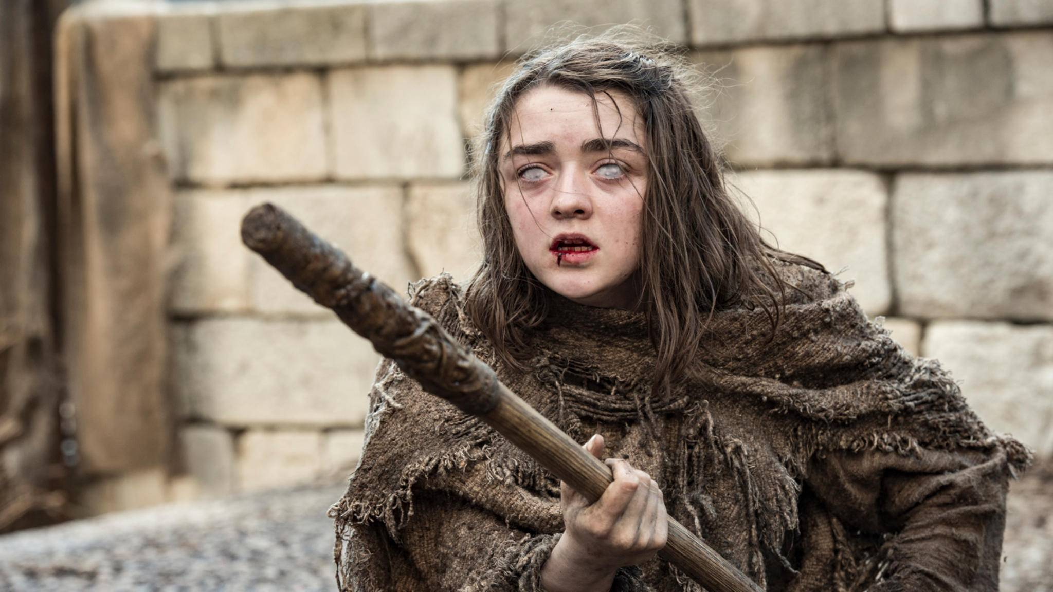 """Schon in der ersten """"Game of Thrones""""-Staffel trennten sich die Wege von Arya und ihrem Schattenwolf Nymeria."""