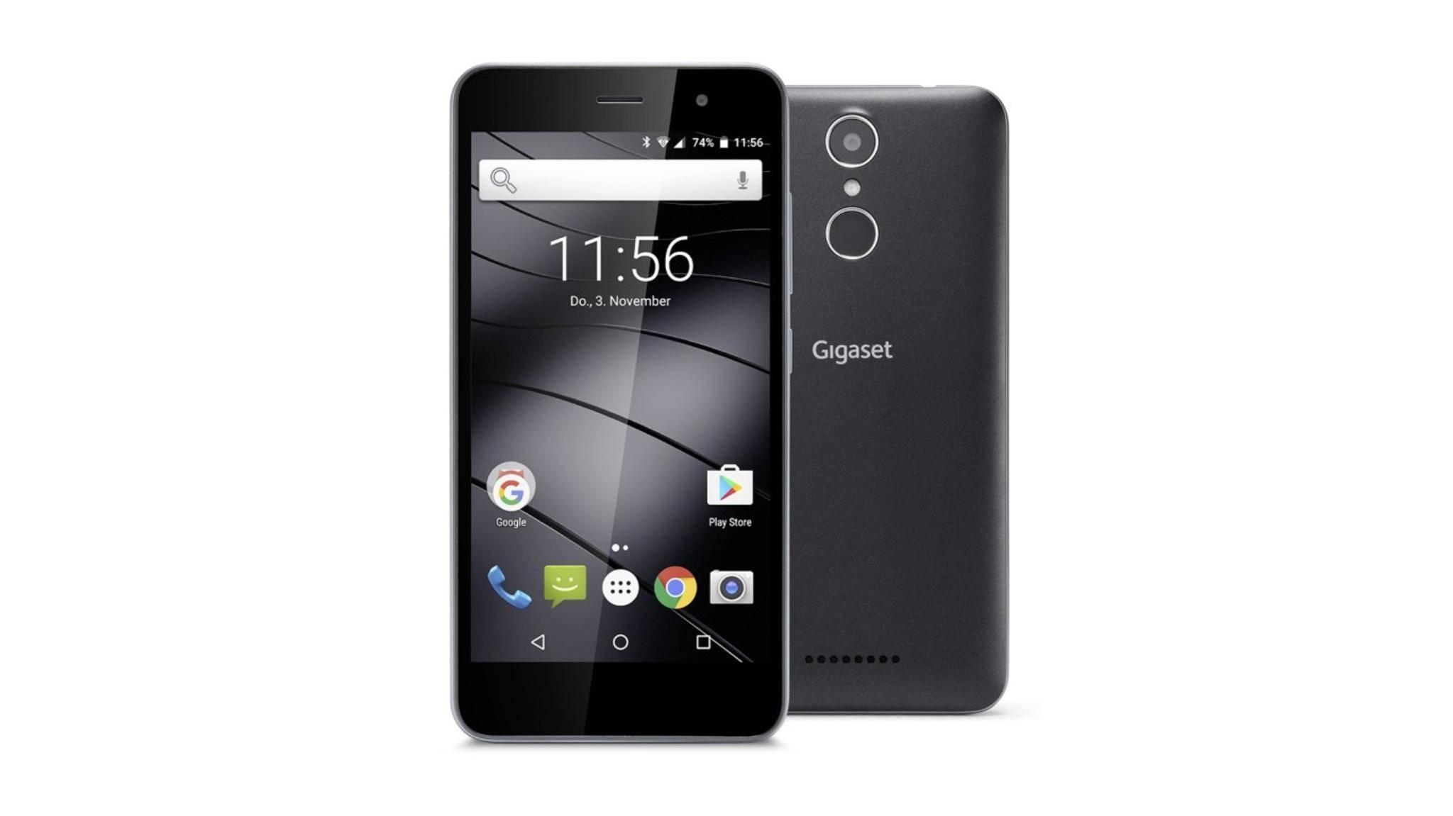Das Gigaset GS160 ist ein Einsteiger-Smartphone für 150 Euro.