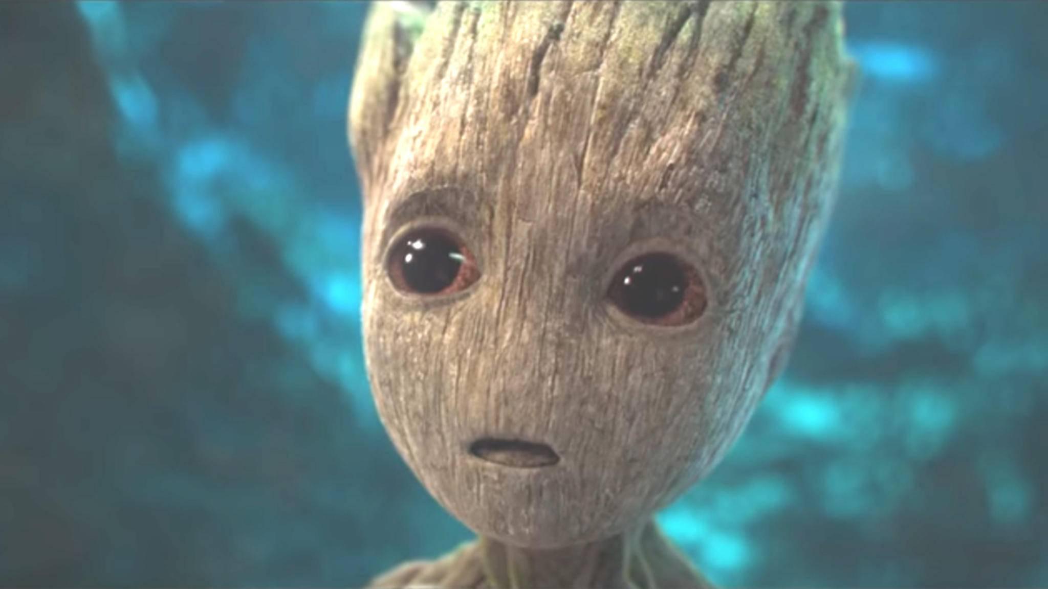 """Nimmt es dieser putzige Held bald mit dem Hulk auf? Groot in """"Guardians of the Galaxy 2""""."""