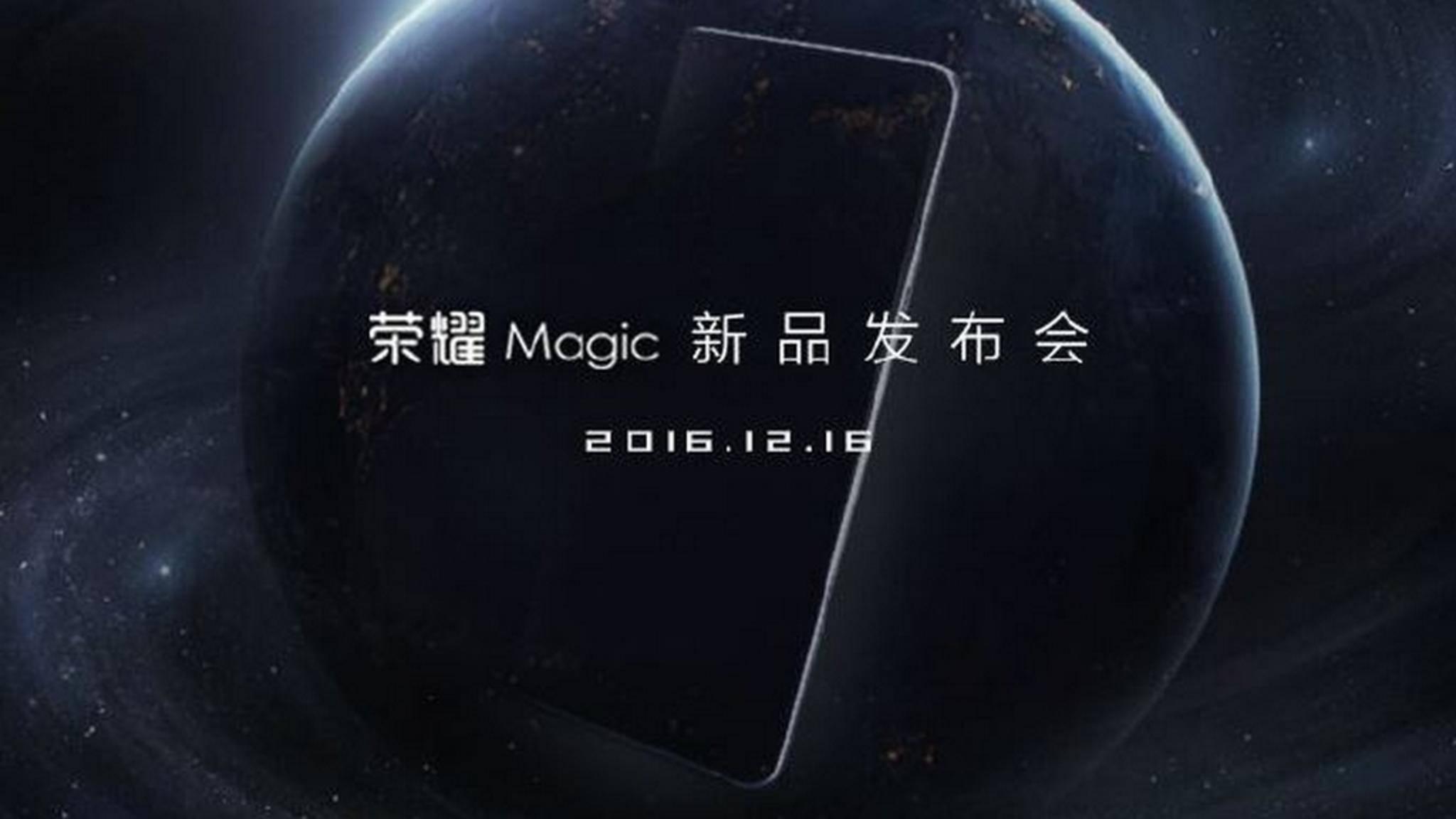 Das nahezu randlose Honor Magic wurde für den 16. Dezember angekündigt.