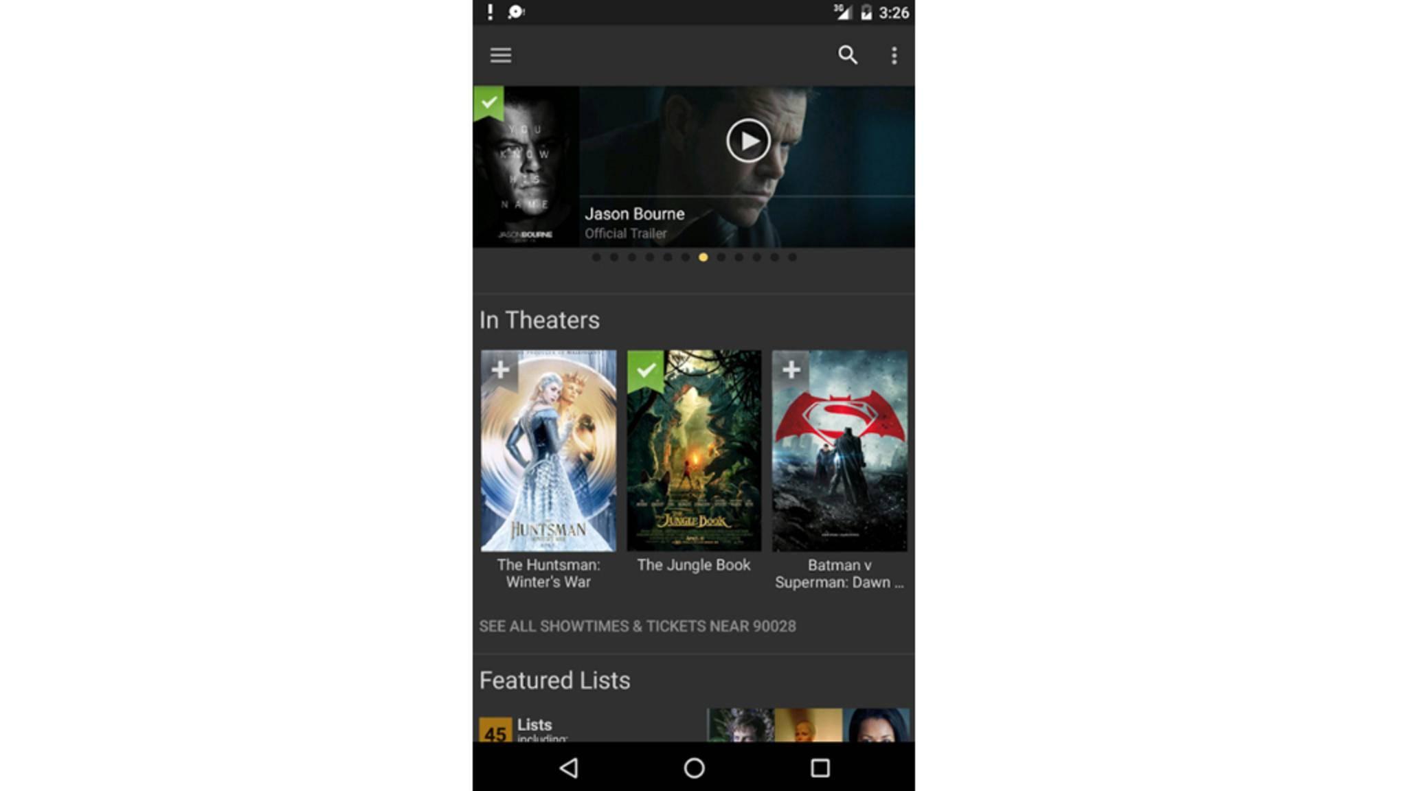 """Die """"IMDb""""-App bietet Dir umfassendes Filmwissen im Taschenformat."""