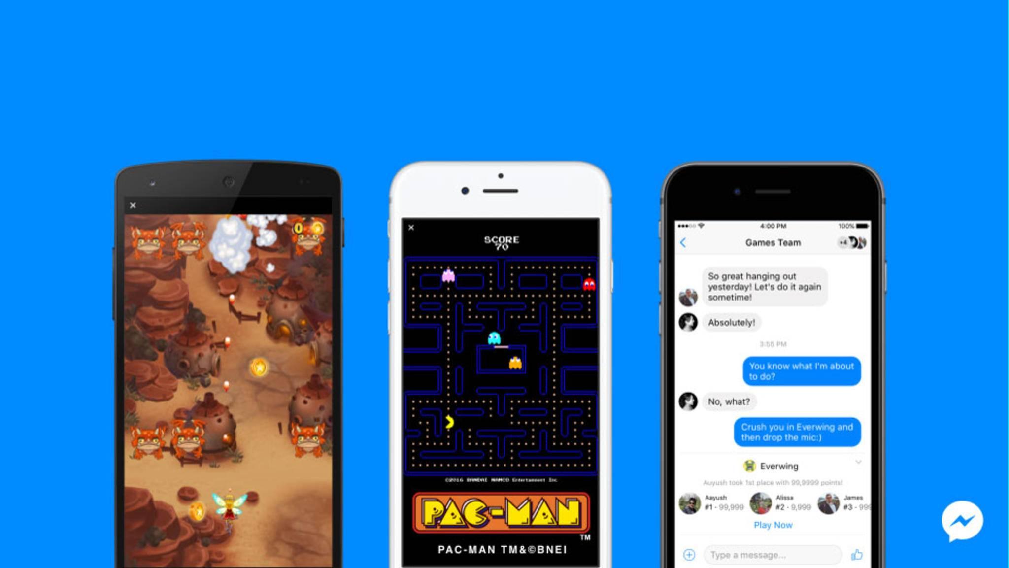 Die Instant Games im Facebook Messenger sind jetzt weltweit verfügbar.