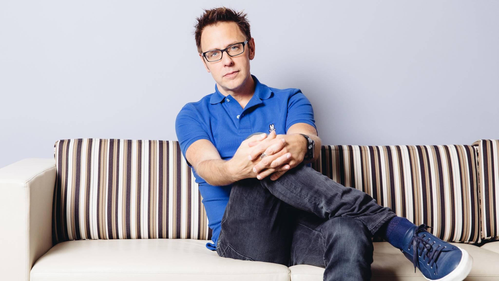 """So bequem wird es sich James Gunn bestimmt auch auf dem Regiestuhl bei """"Avengers: Infinity War"""" machen."""