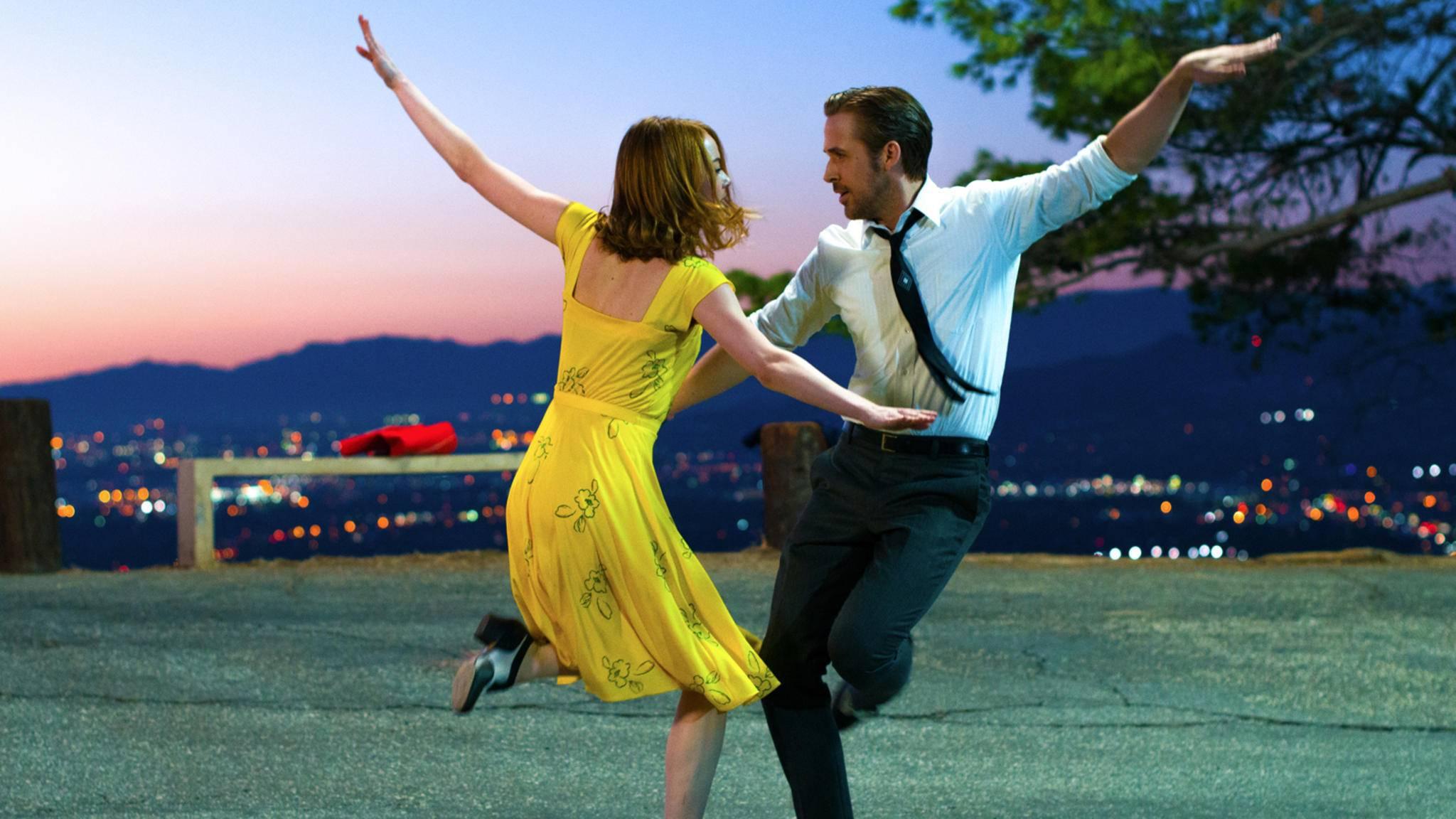 """""""La La Land"""" mit Emma Stone und Ryan Gosling könnte bei den Oscars 2017 mit einer Nominierung als bester Film bedacht werden."""