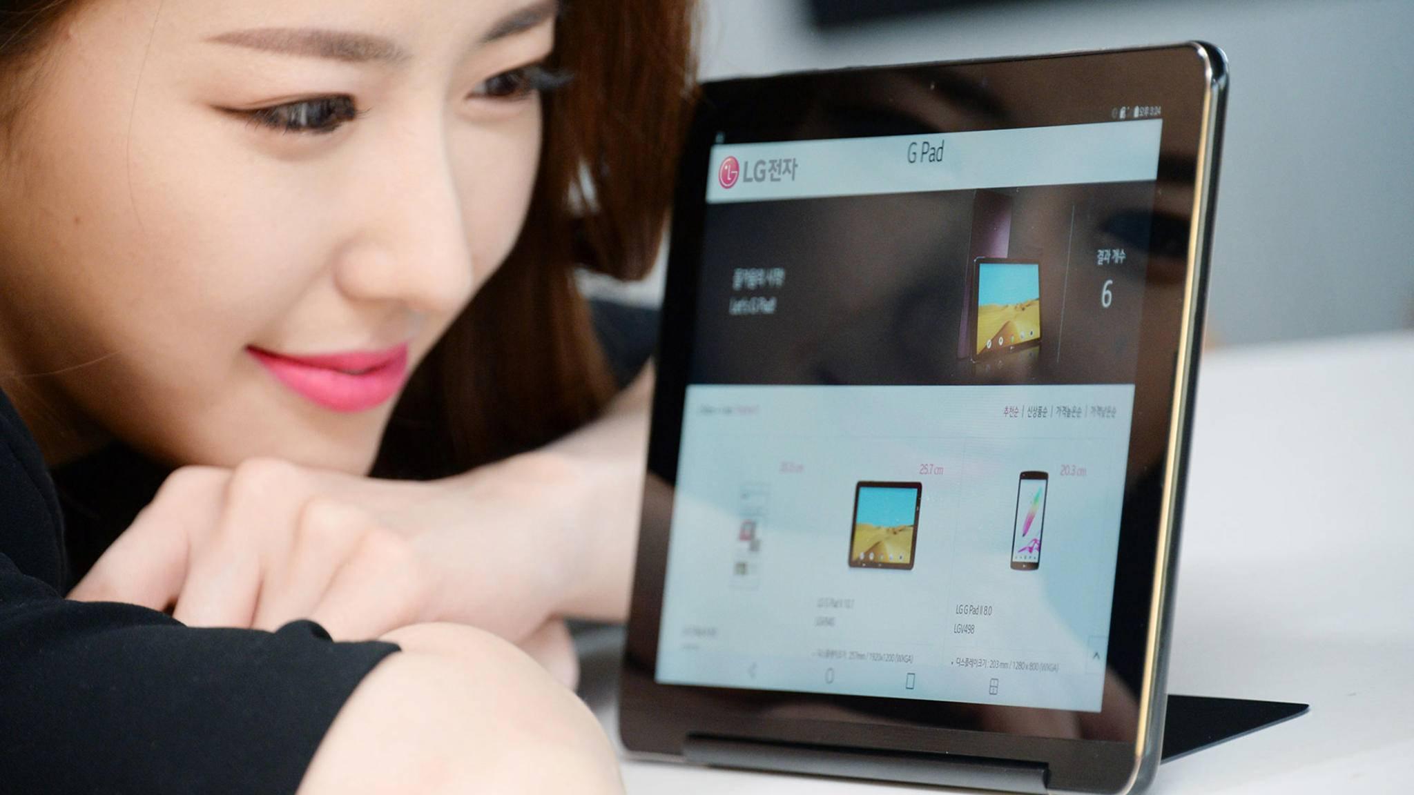 Das LG G Pad III erscheint zunächst in Südkorea.