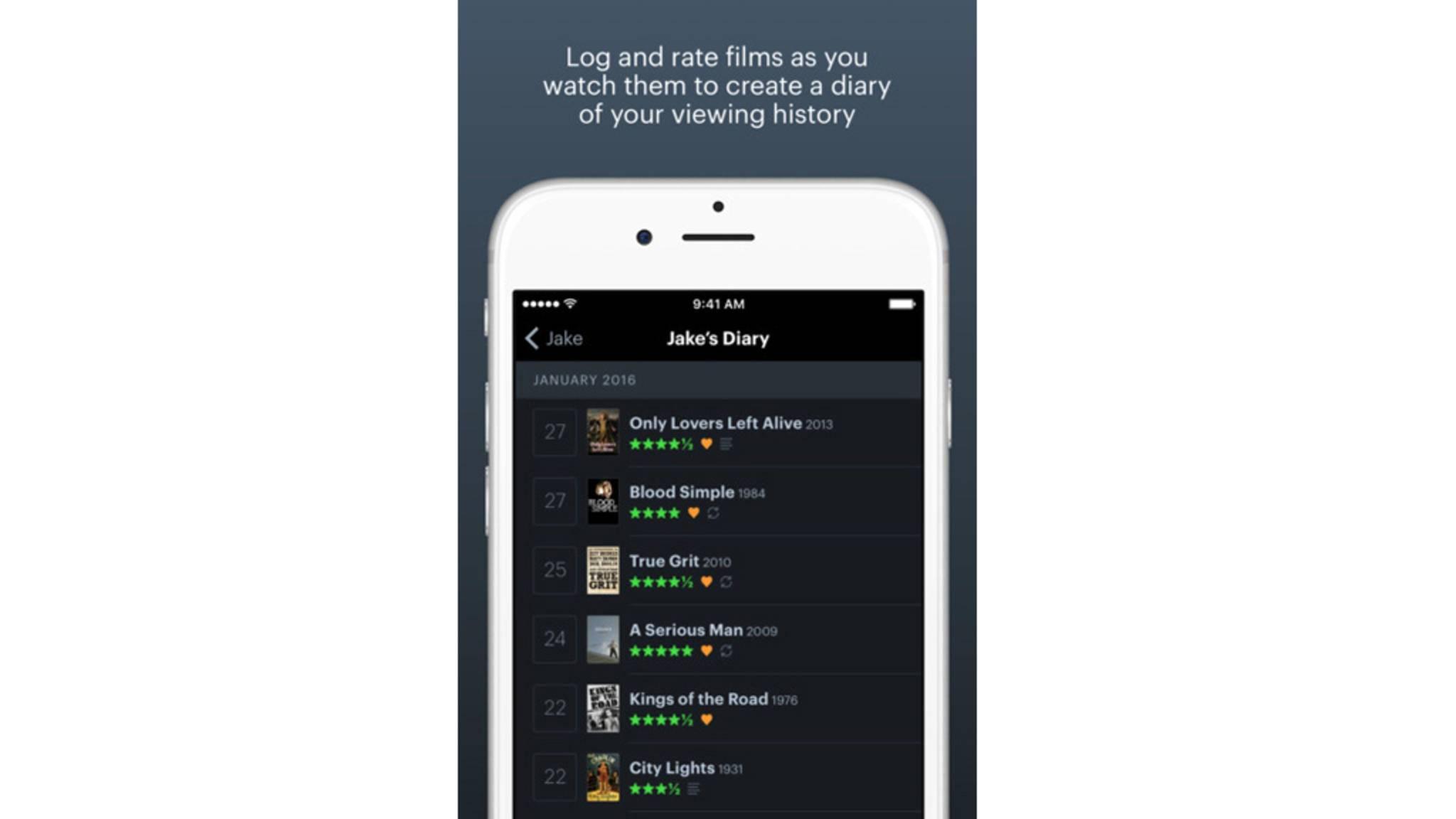 Eine Art soziales Netzwerk für Filmfans bietet Letterboxd.